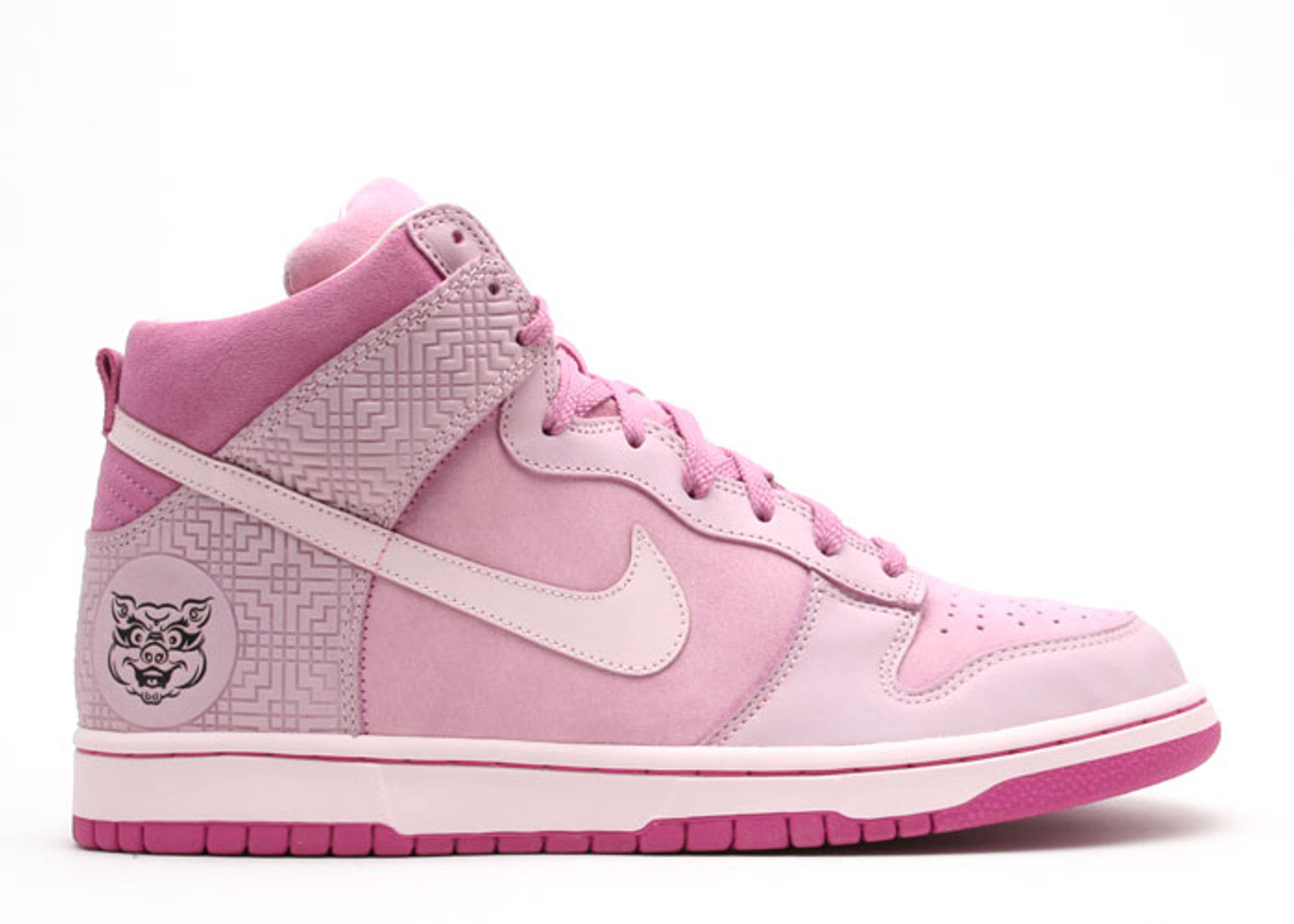 pink nike dunks high tops