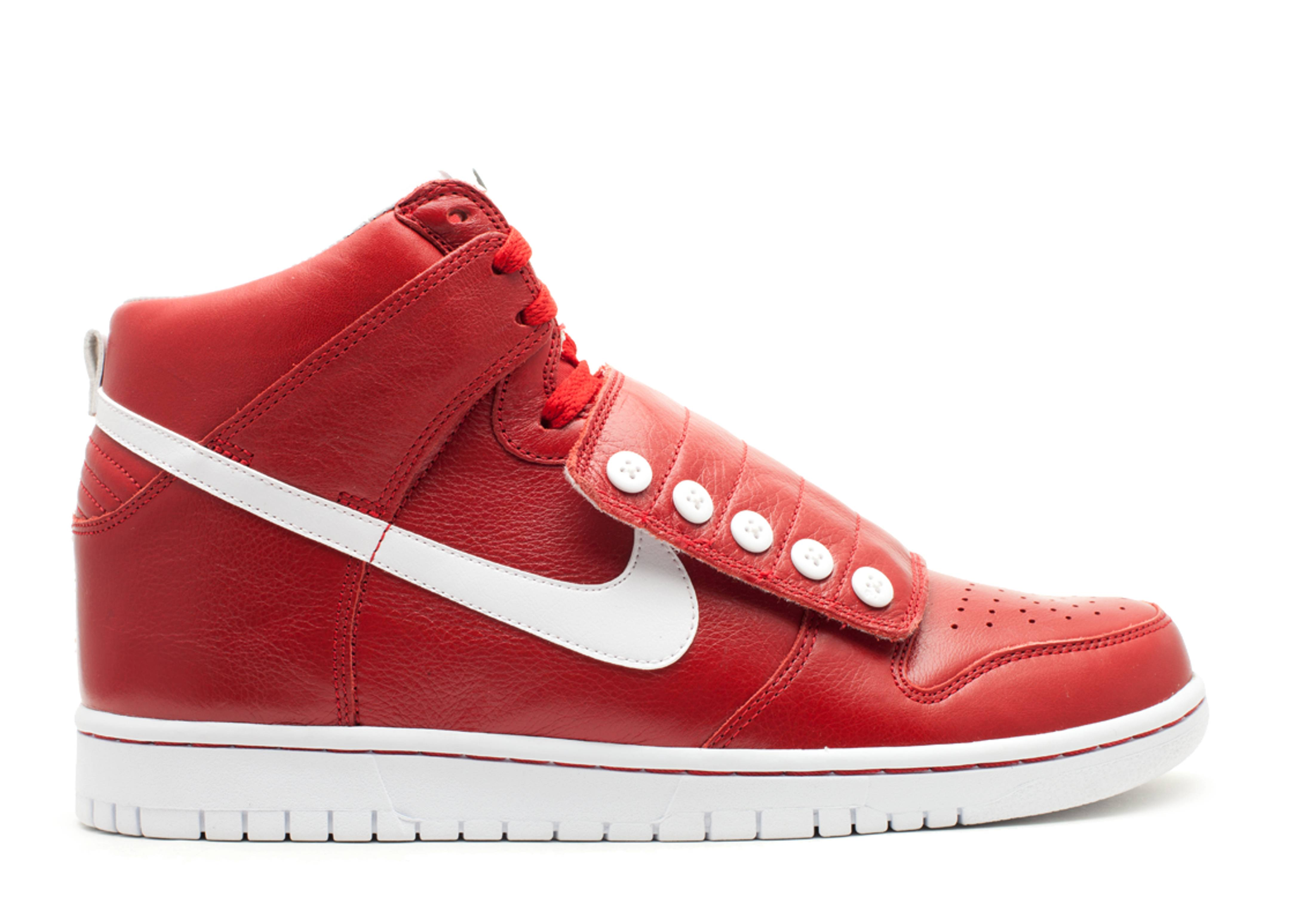Nike Dunk High Questlove High Strap Sneakers (Varsity Red/White-Black)
