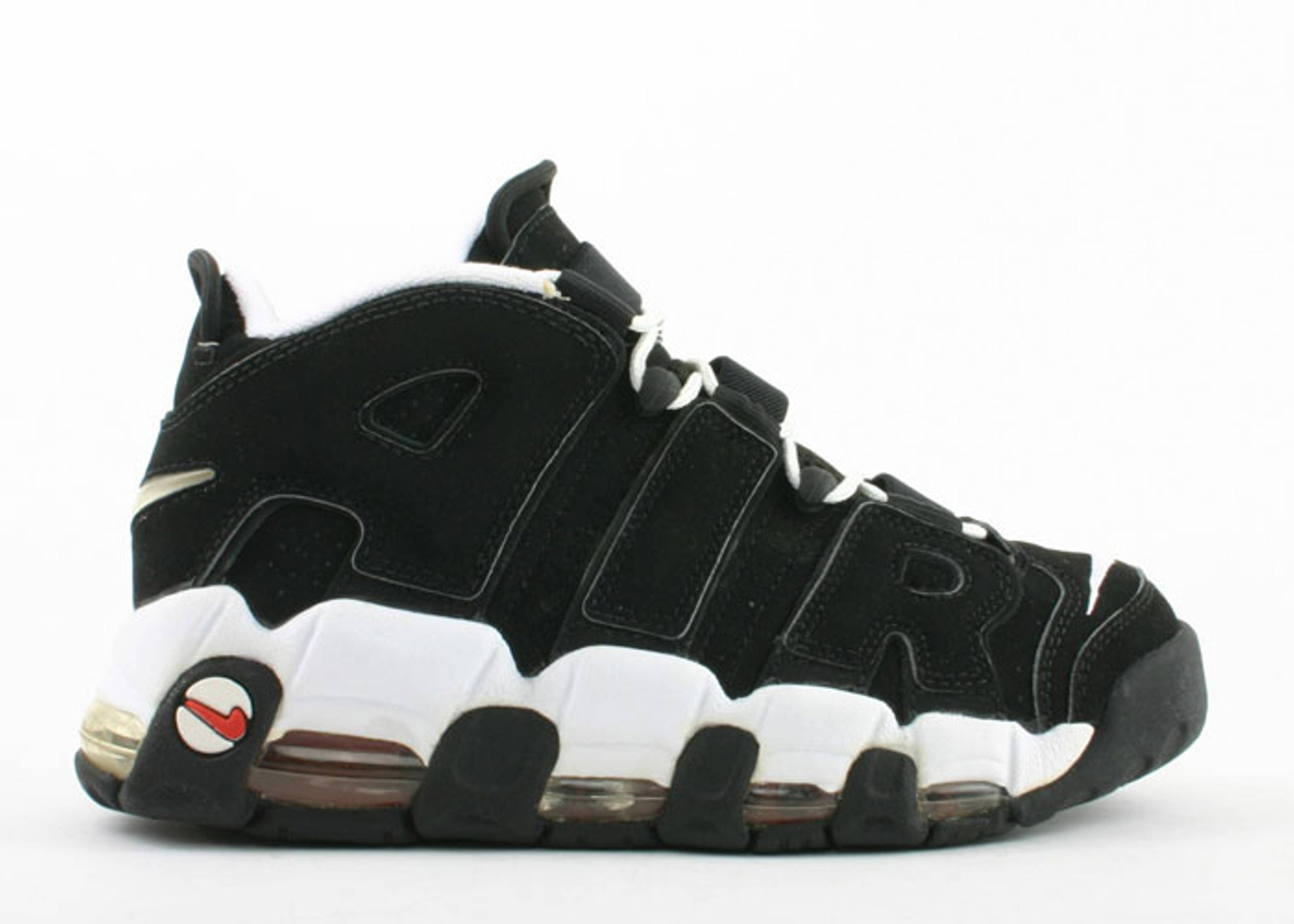 Air More Uptempo - Nike - 130108 012 - black white-chile red ... bf588dd11b