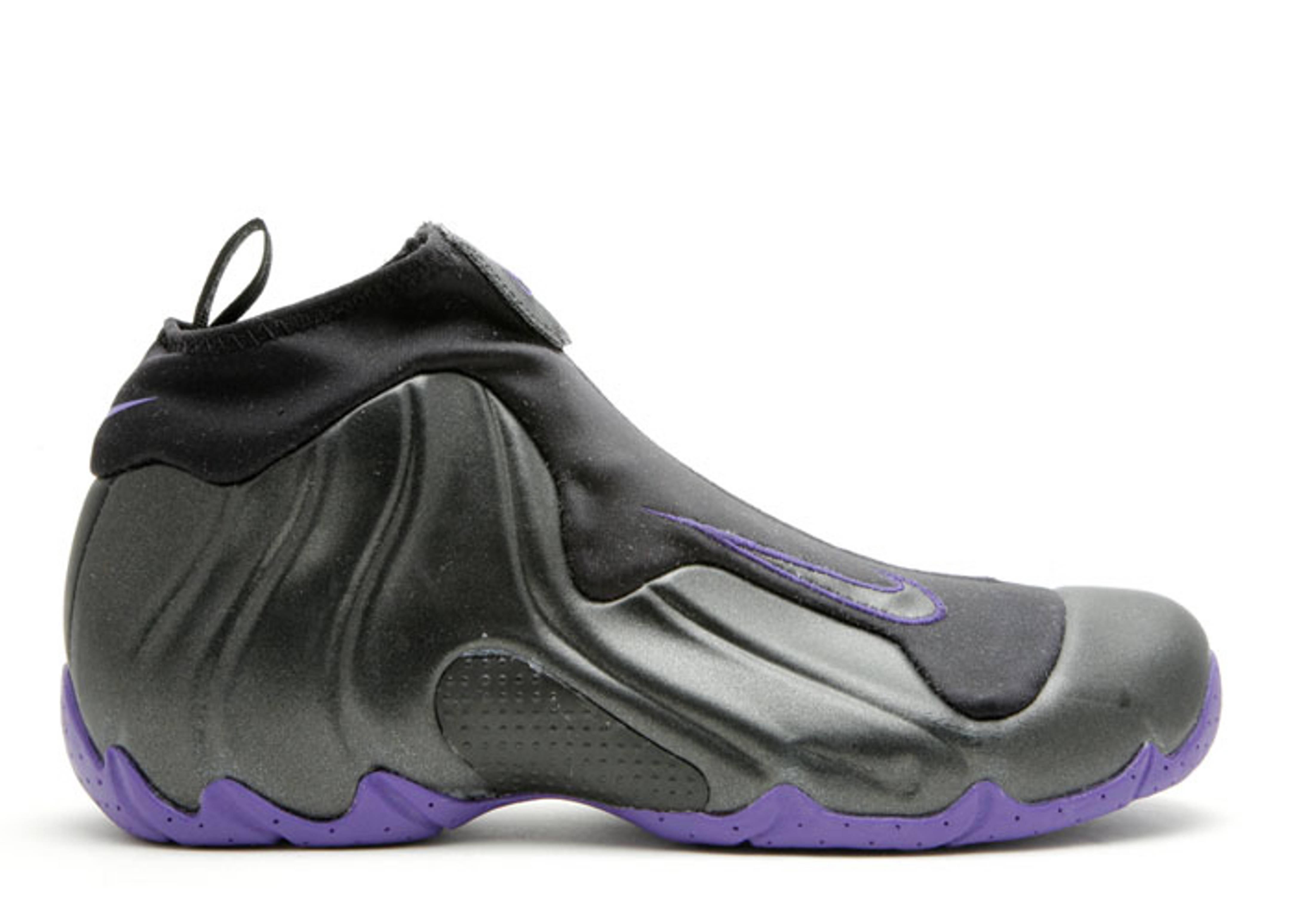 nike air flightposite black purple