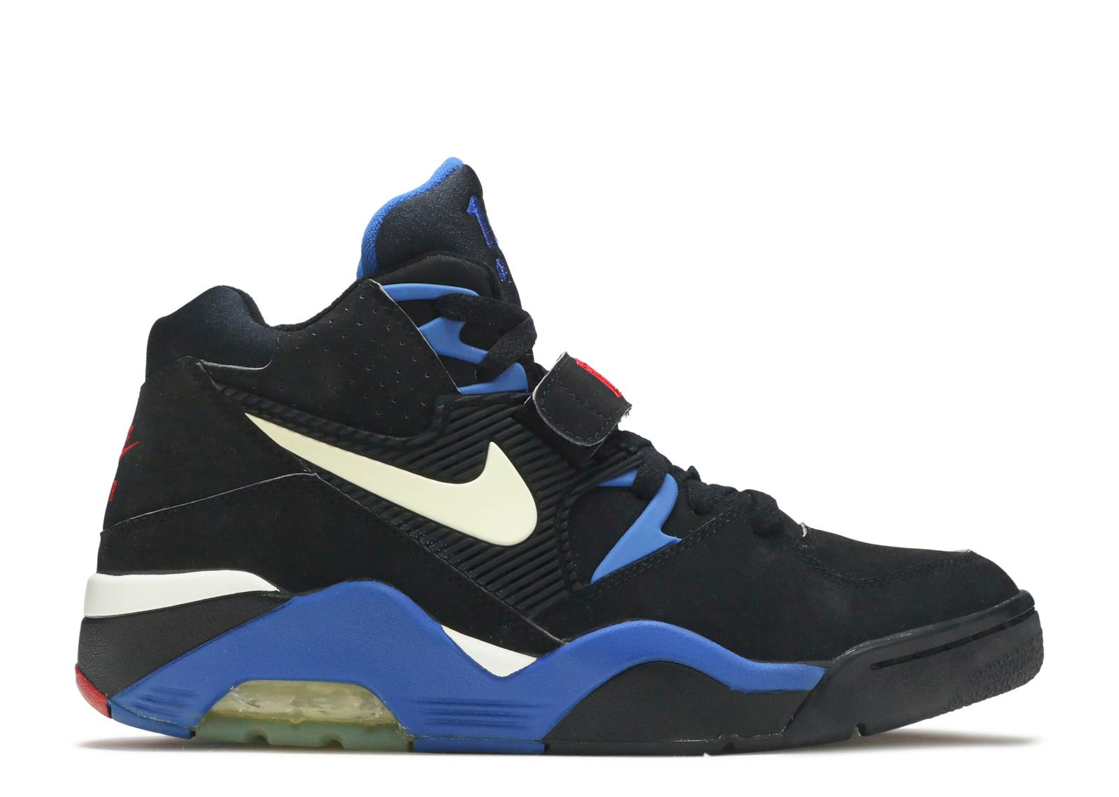 uk availability c1f4e 6dd74 Air Force 180 - Nike - 310095 011 - black white-sport royal-varsity ...