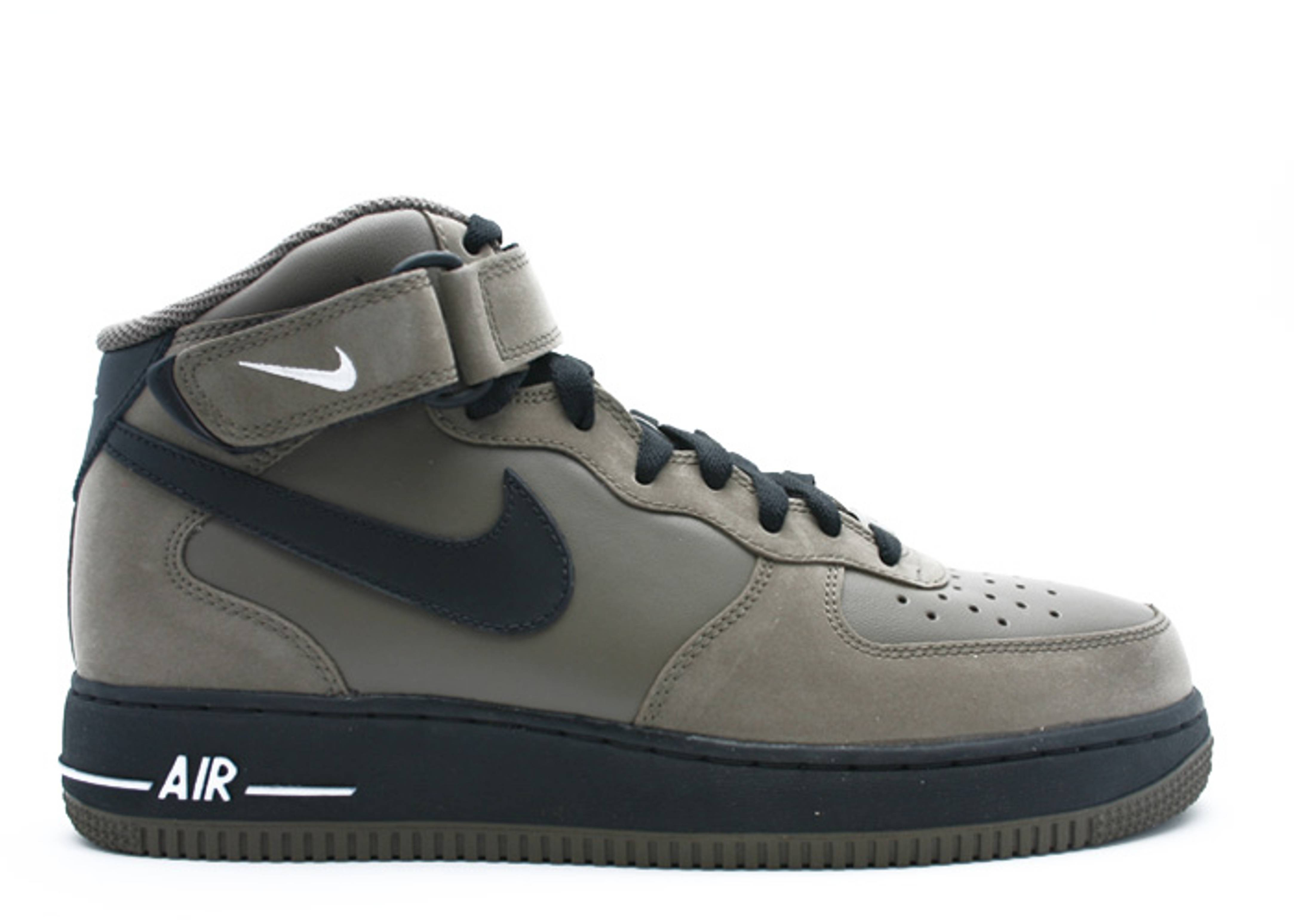 air force 1 mid 07 nike 315123 211 olive khaki black. Black Bedroom Furniture Sets. Home Design Ideas