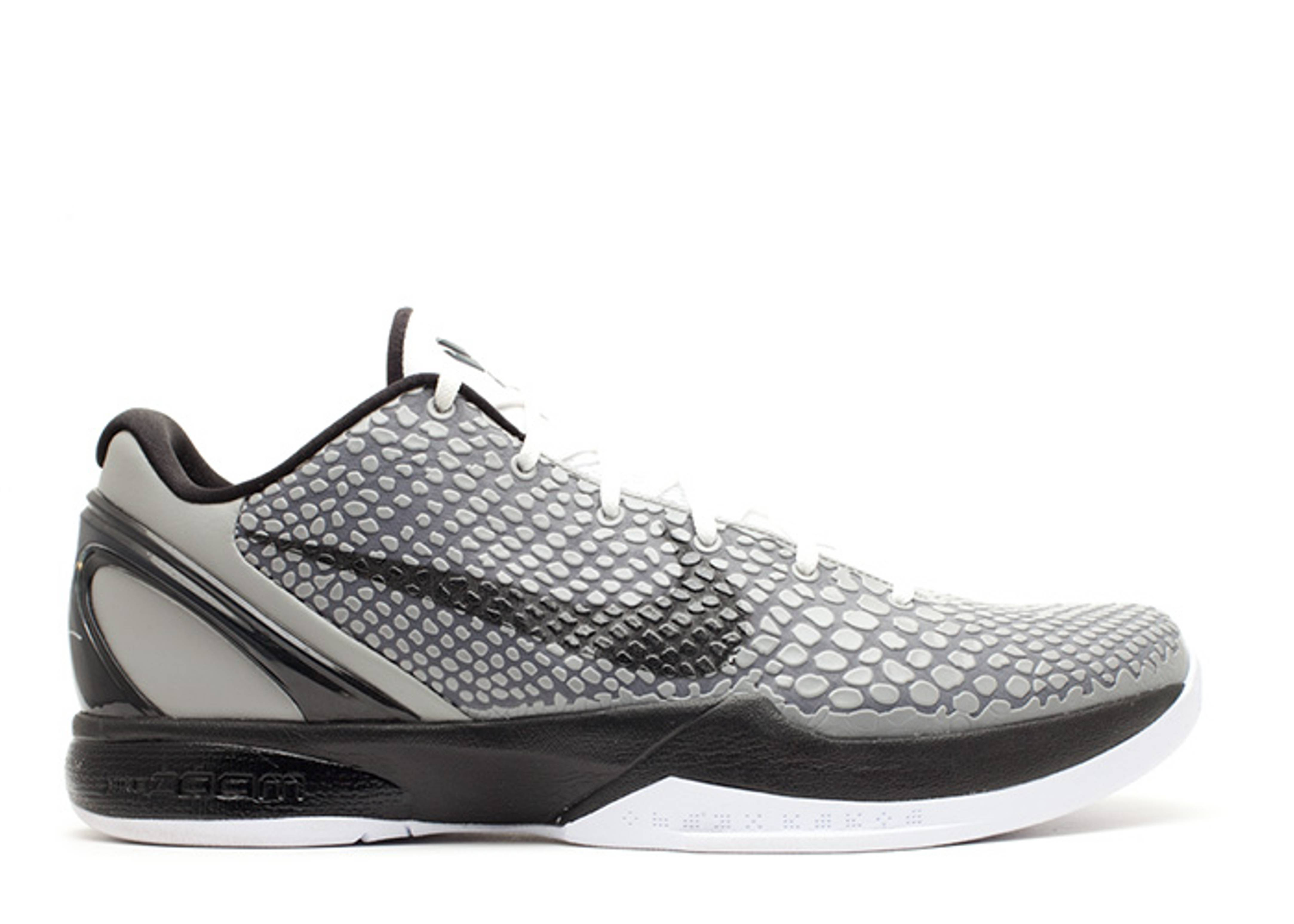 7646551e79fb Zoom Kobe 6 - Nike - 429659 007 - medium grey black-white