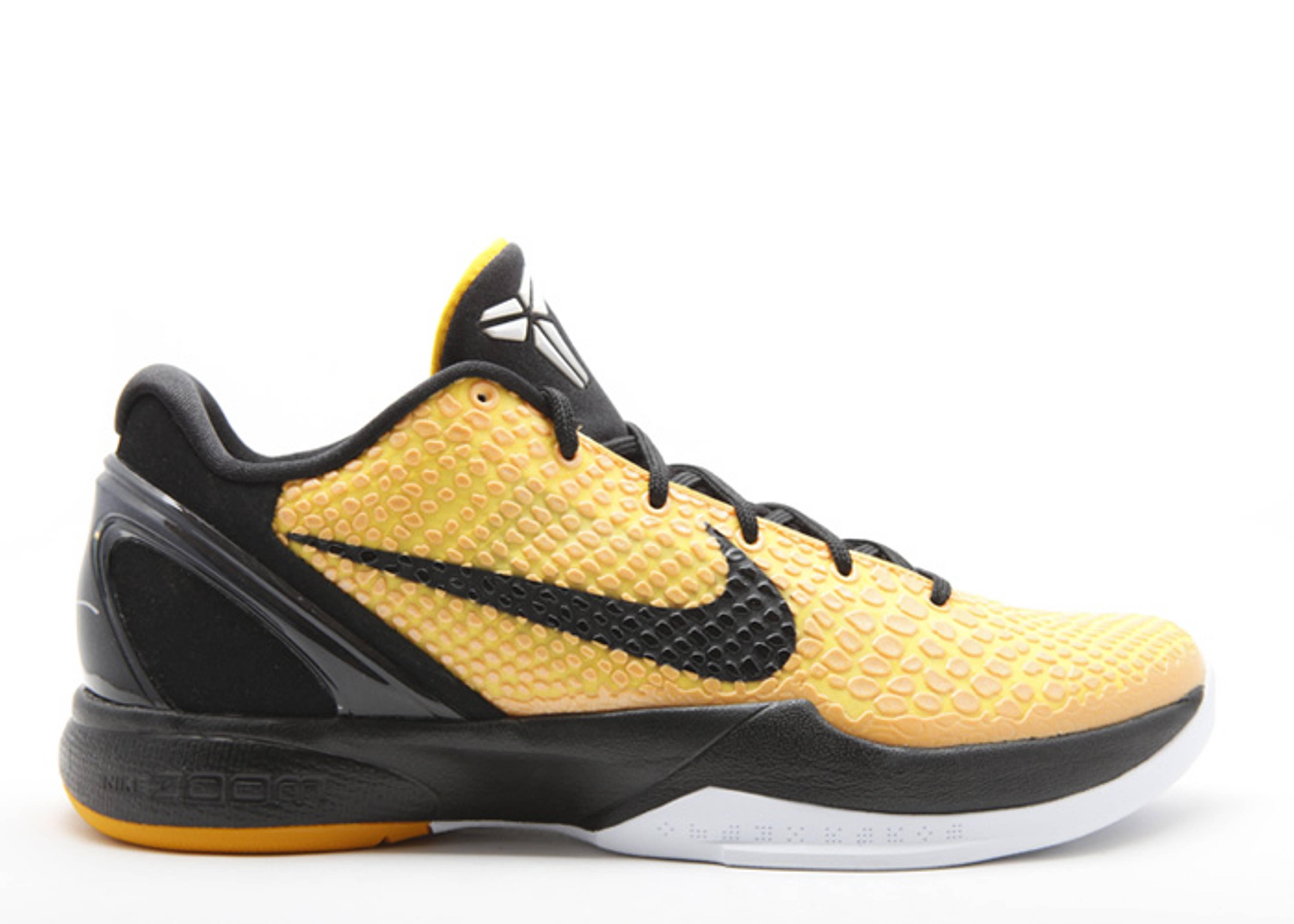 Zoom Kobe 6 - Nike - 429659 700 - del sol black-tr yellow-white ... 83c8d041c