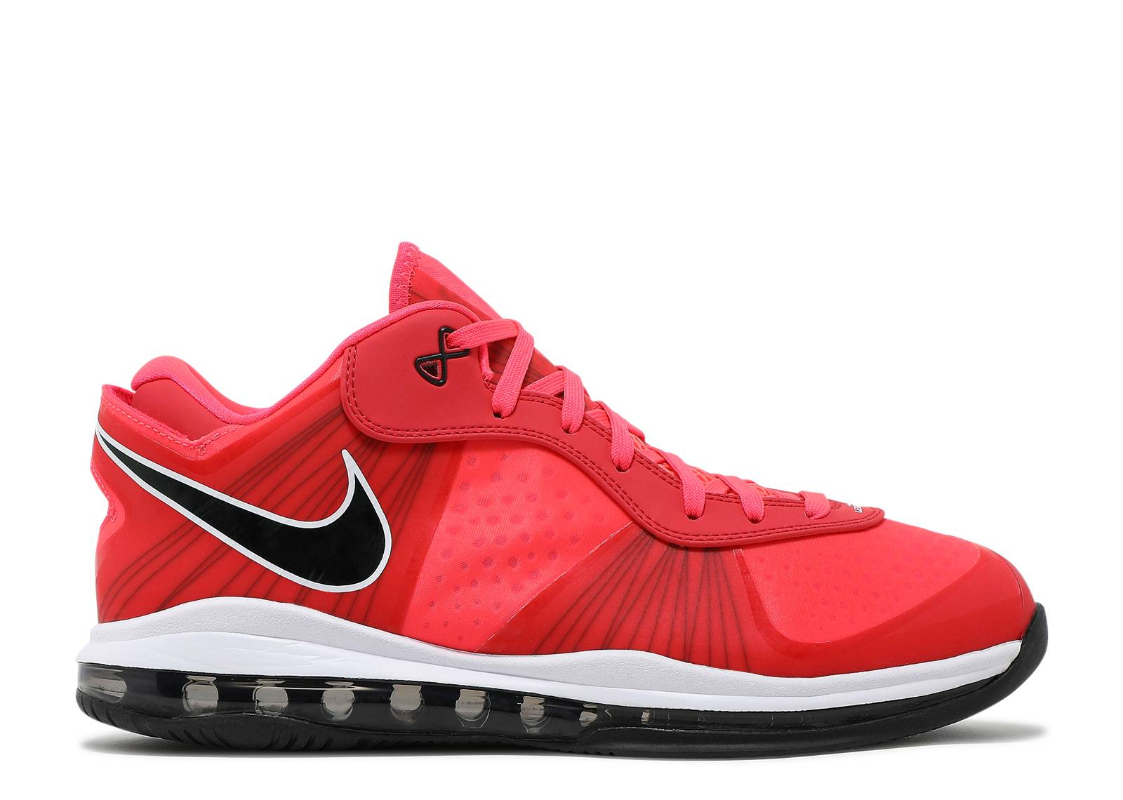 Nike LeBron 8 V\/2 Low Solar Red Sneakers (Solar Red/Solar Red-Black-White)