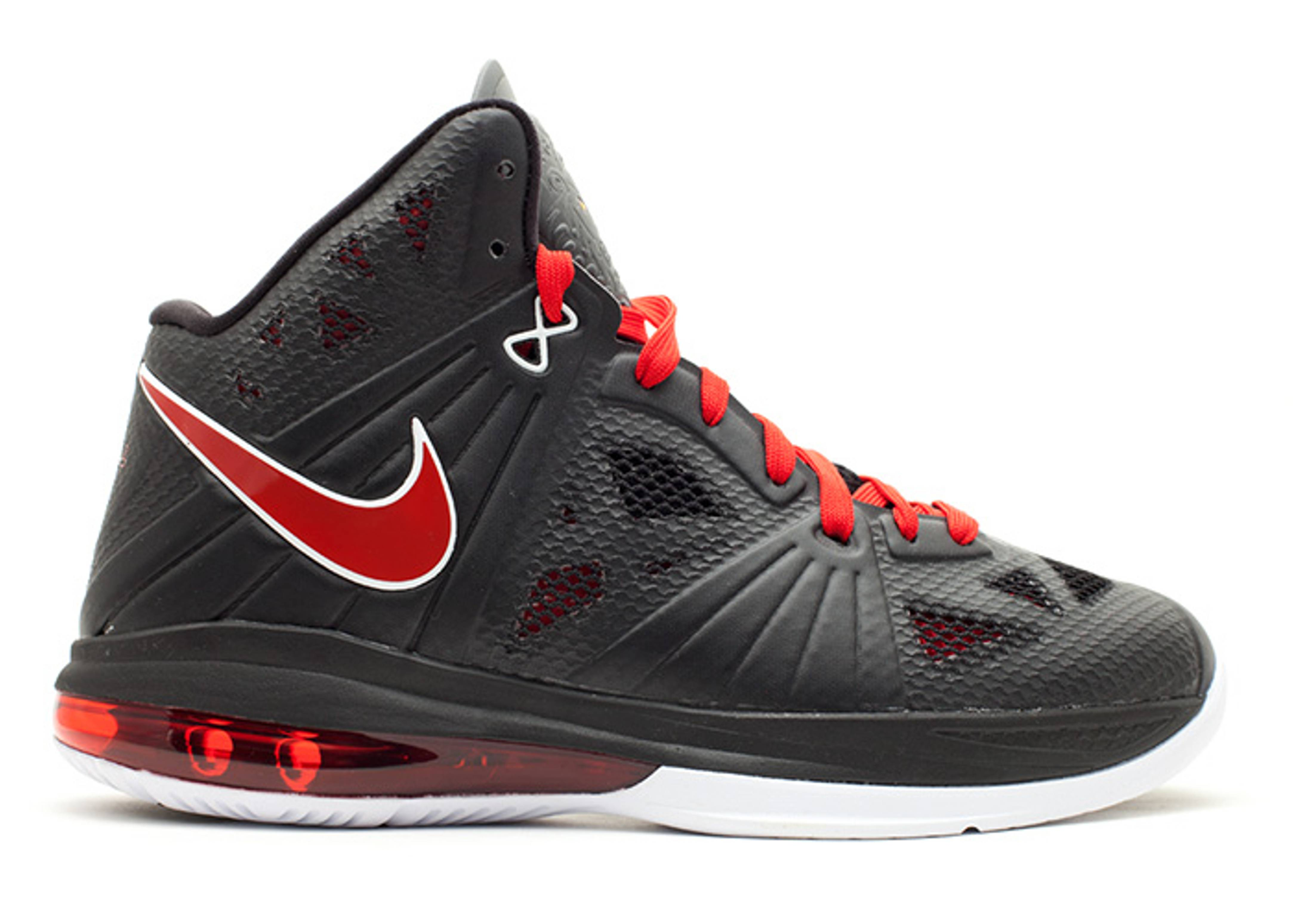 Lebron 8 P.s. - Nike - 441946 001 - black sport red-white  aeb964532