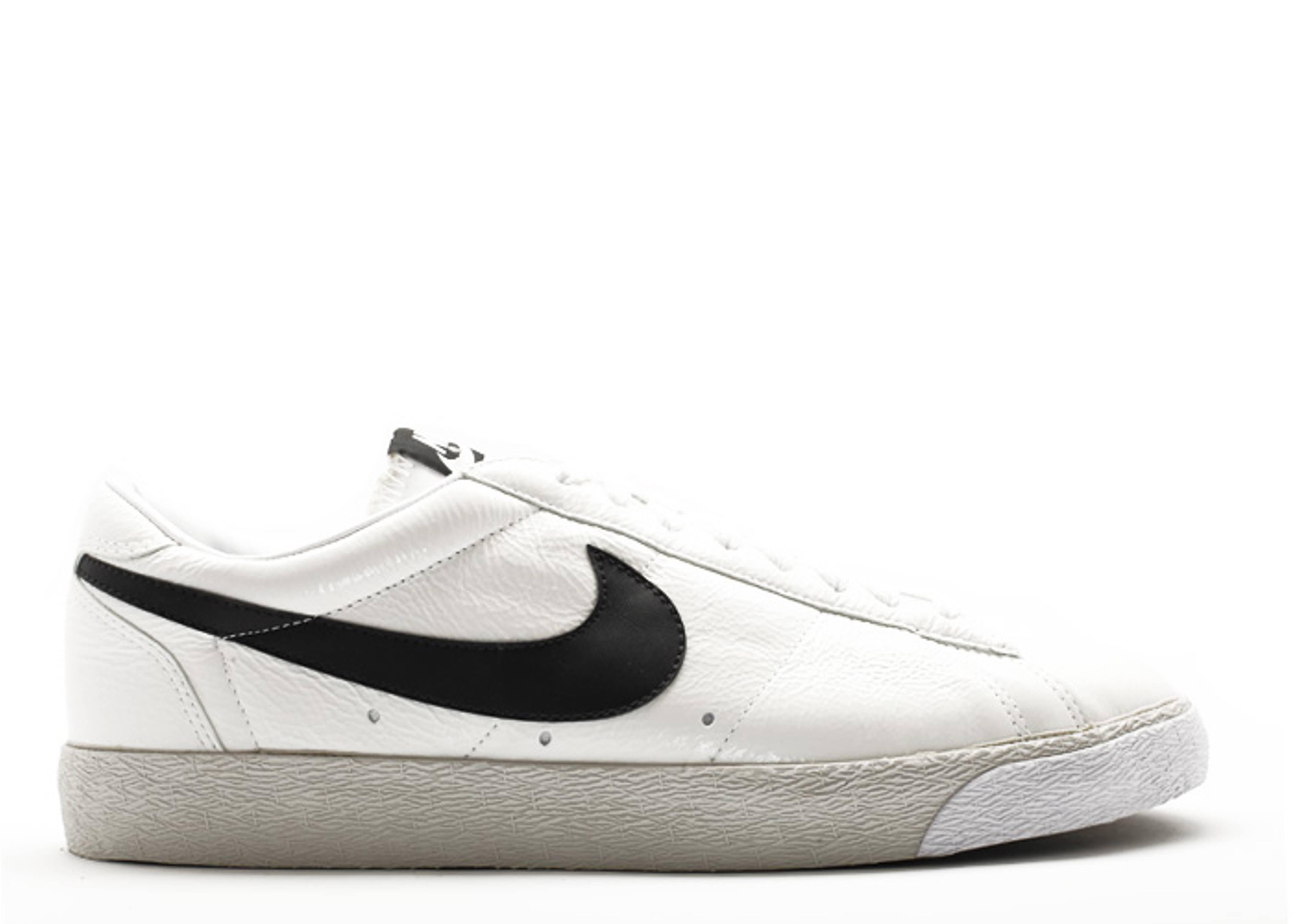 watch 76046 988d2 Blazer Low Classic Premium - Nike - 320509 101 - whiteblack-light bone   Flight Club