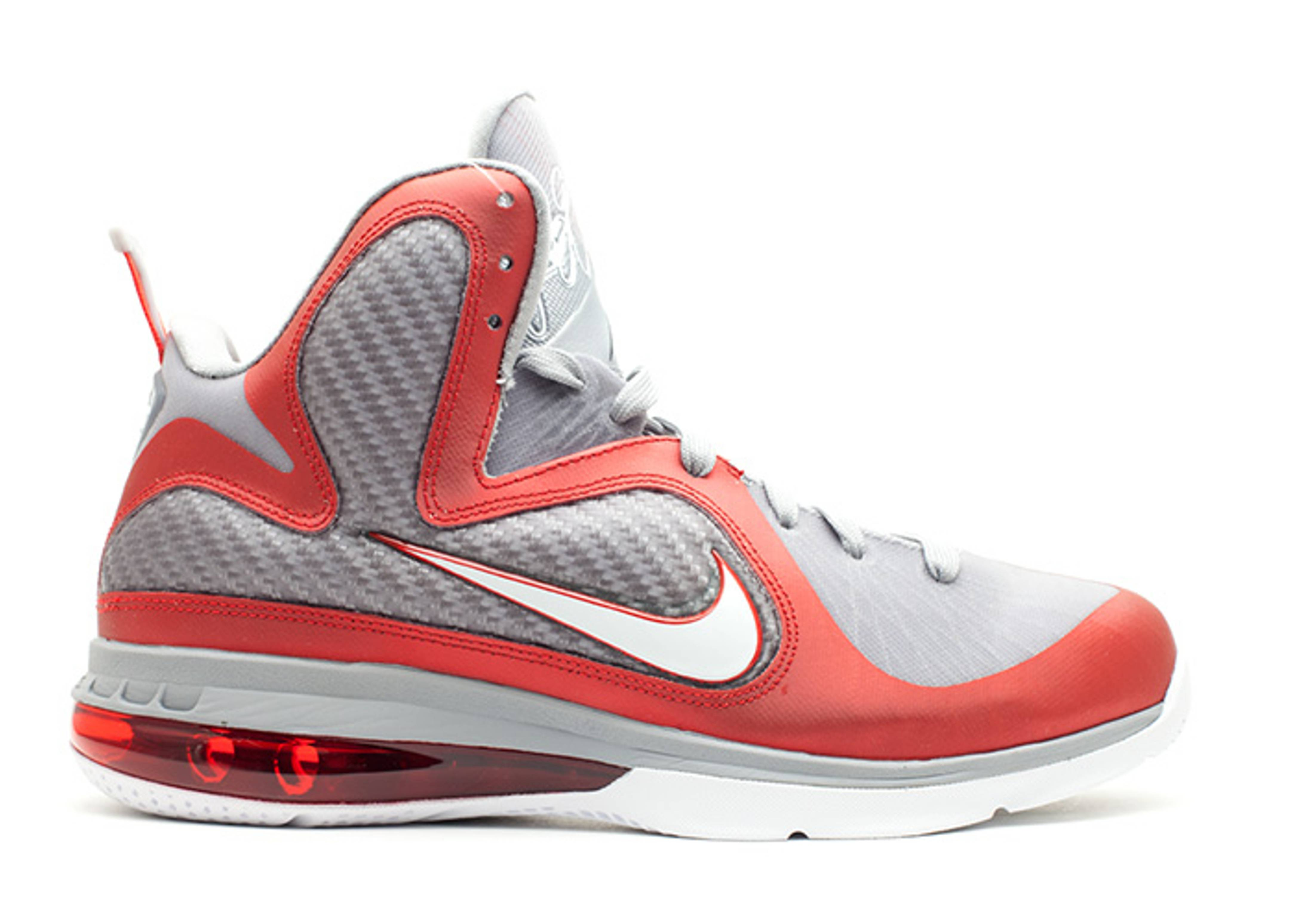 Nike LeBron 9 Ohio State Sneakers (sport red/white-wolf grey)