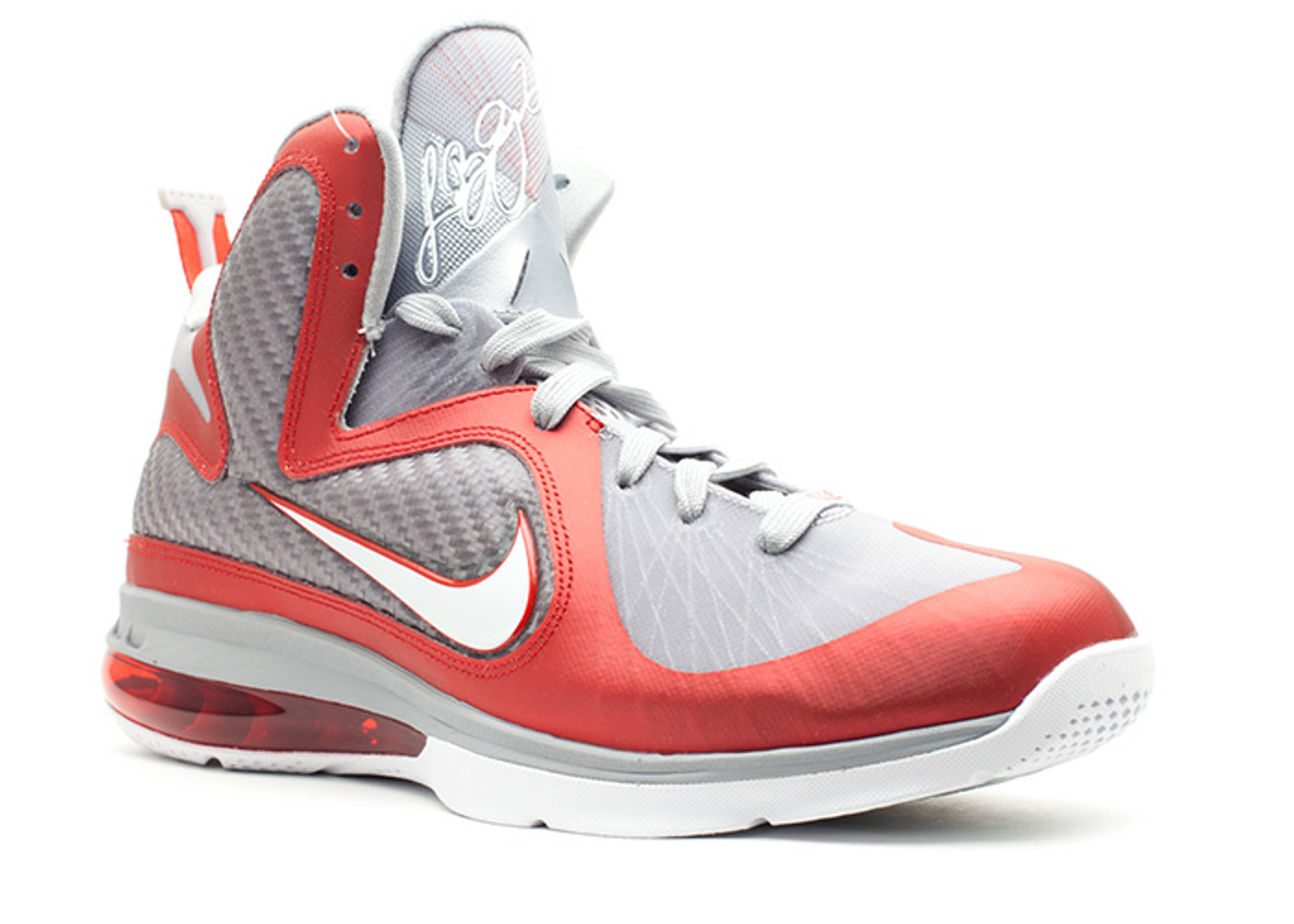 on sale 046e3 b5f1d ... Ohio State Buckeyes Color 469764-601 B Lebron 9 First Look Nike ...