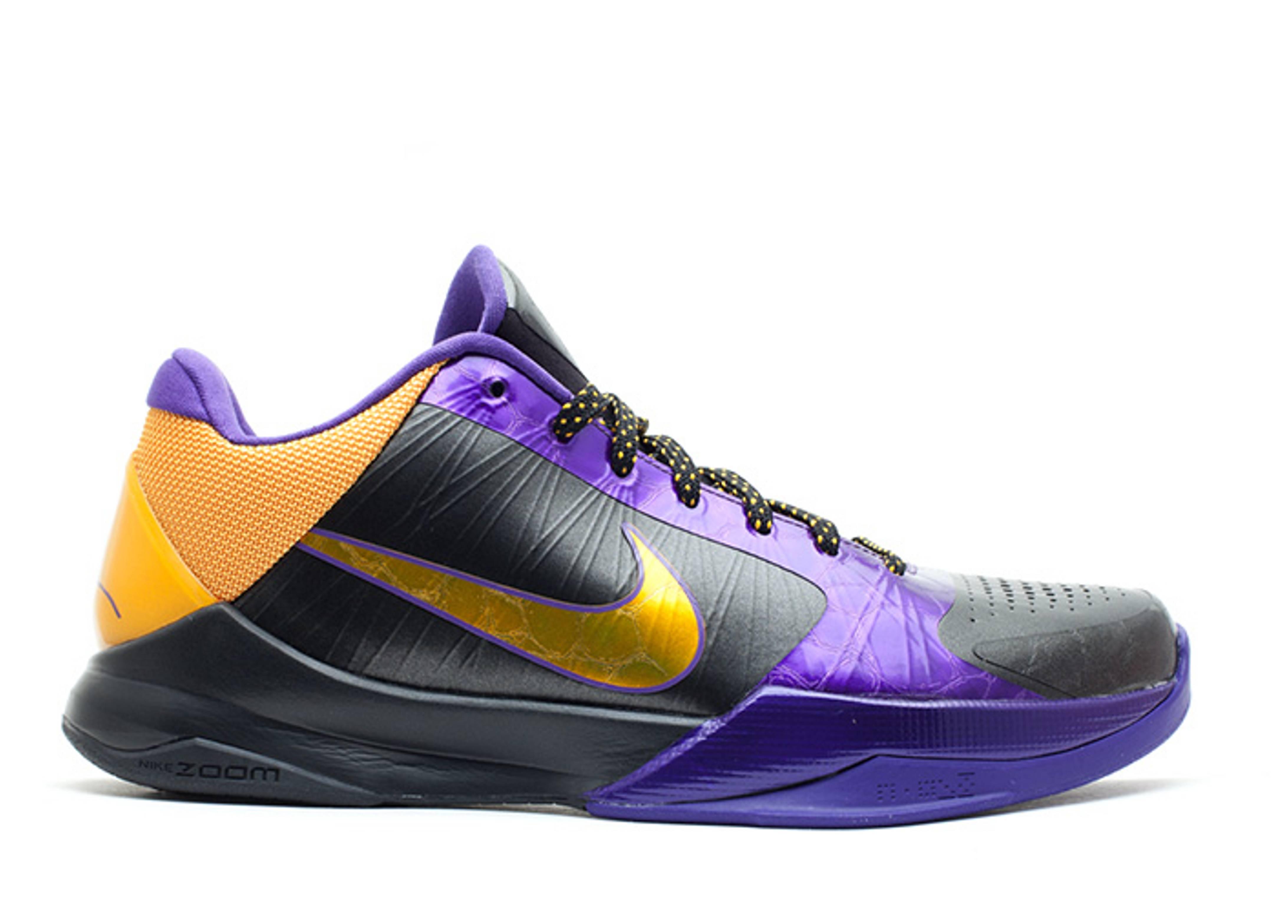huge selection of 31aec 23fed Zoom Kobe 5 X - Nike - 386430 071 - black de sol-varsity purple ...