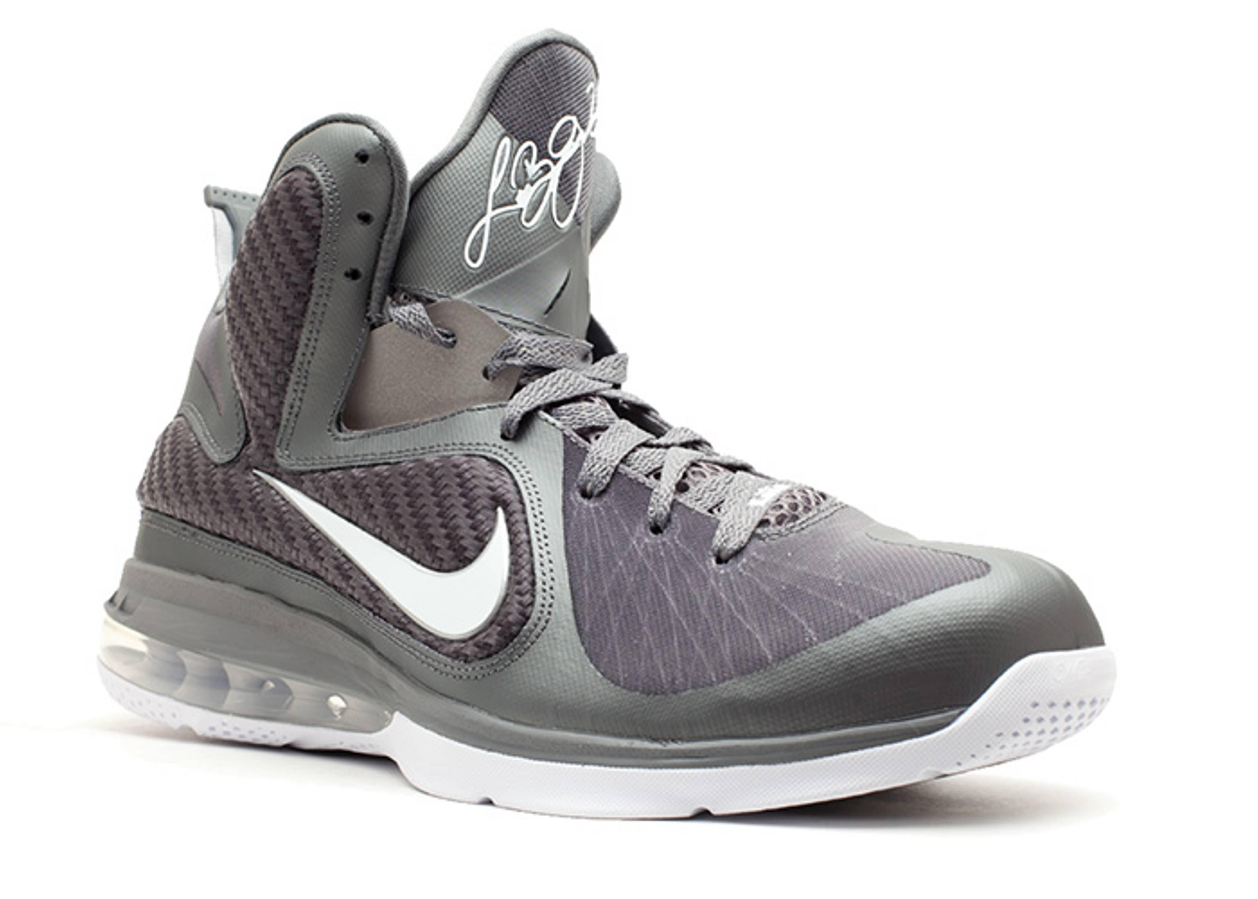 lebron 9 grey white shoes