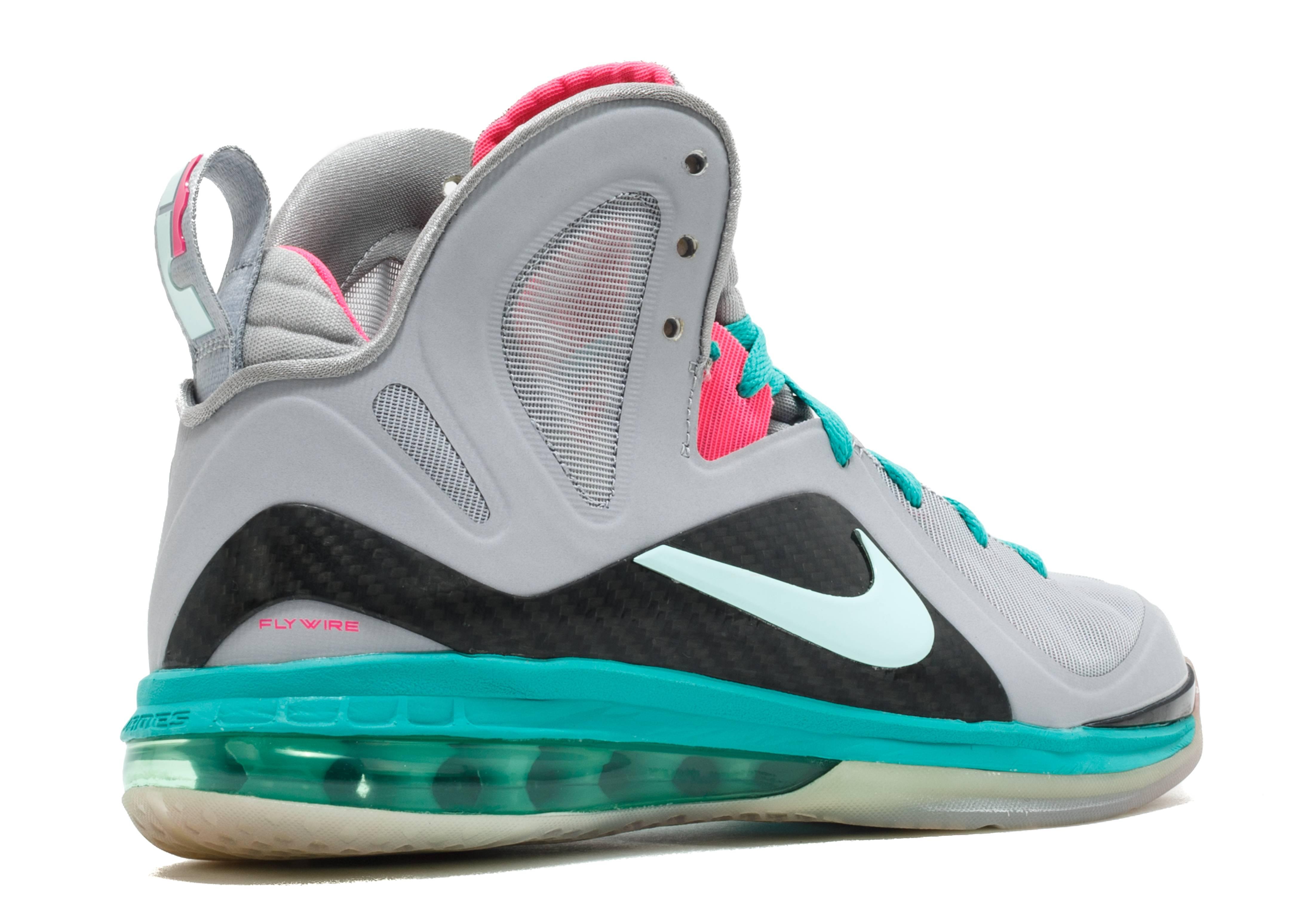 Maestro capi di abbigliamento cucina  LeBron 9 P.S. Elite 'South Beach' - Nike - 516958 001 - wolf grey/mint  candy-new green-pink flash | Flight Club