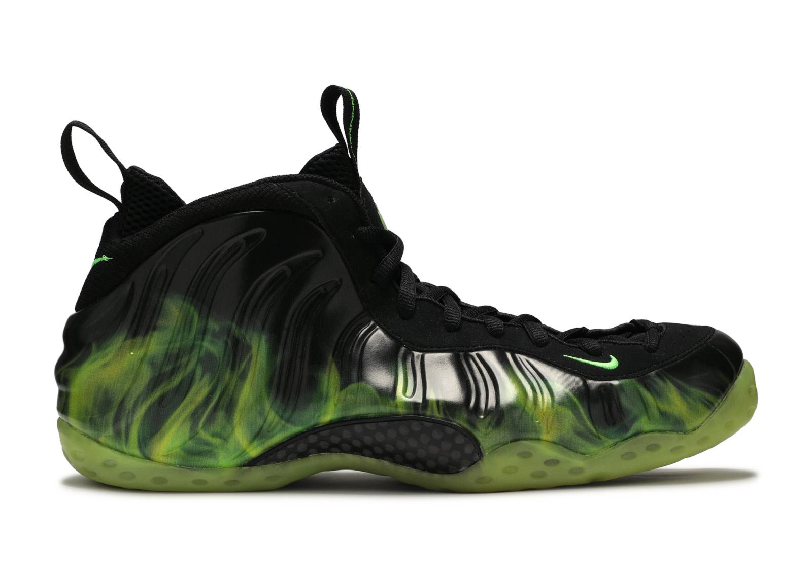 Black-Electric Green - Men Nike Air Foamposite One Paranorman