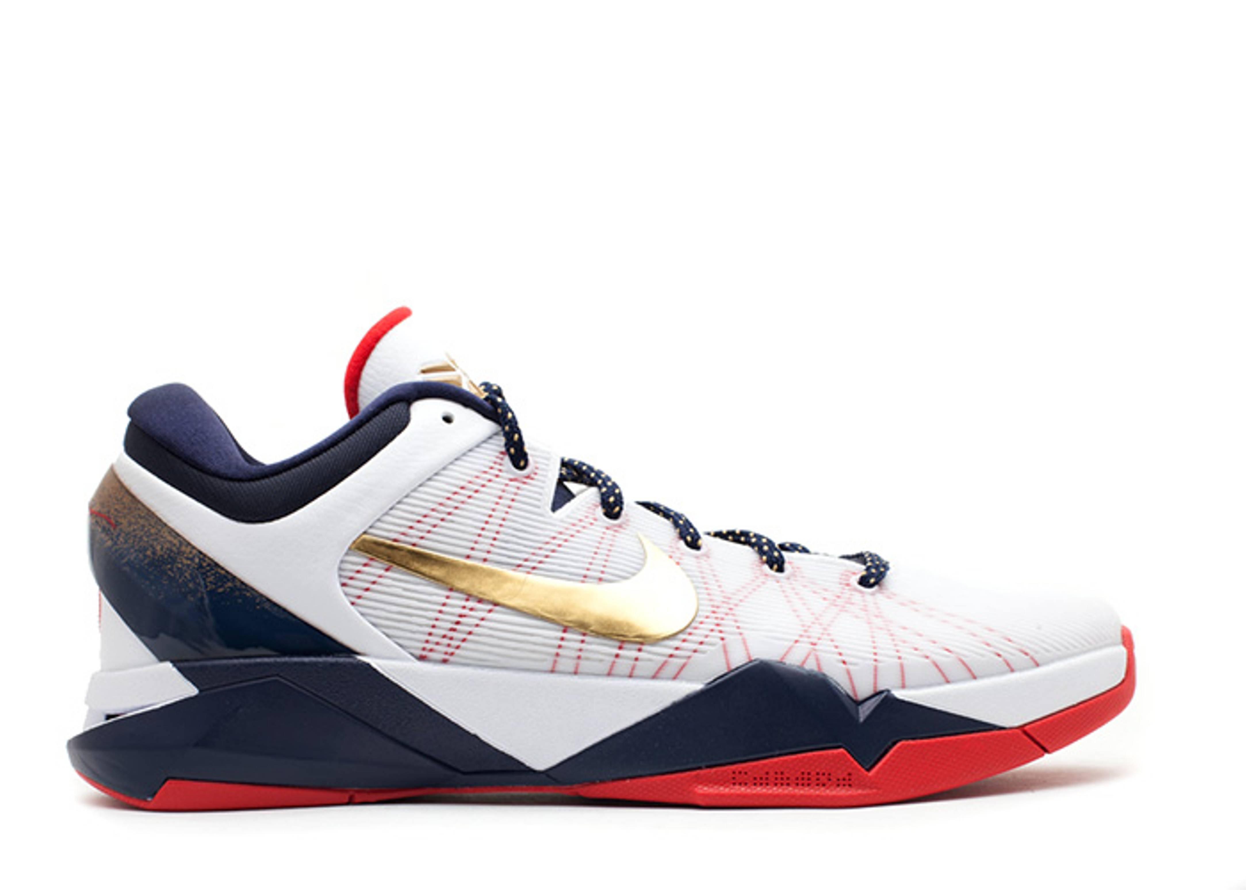 Nike Zoom Kobe 7 VII System White Gold Medal
