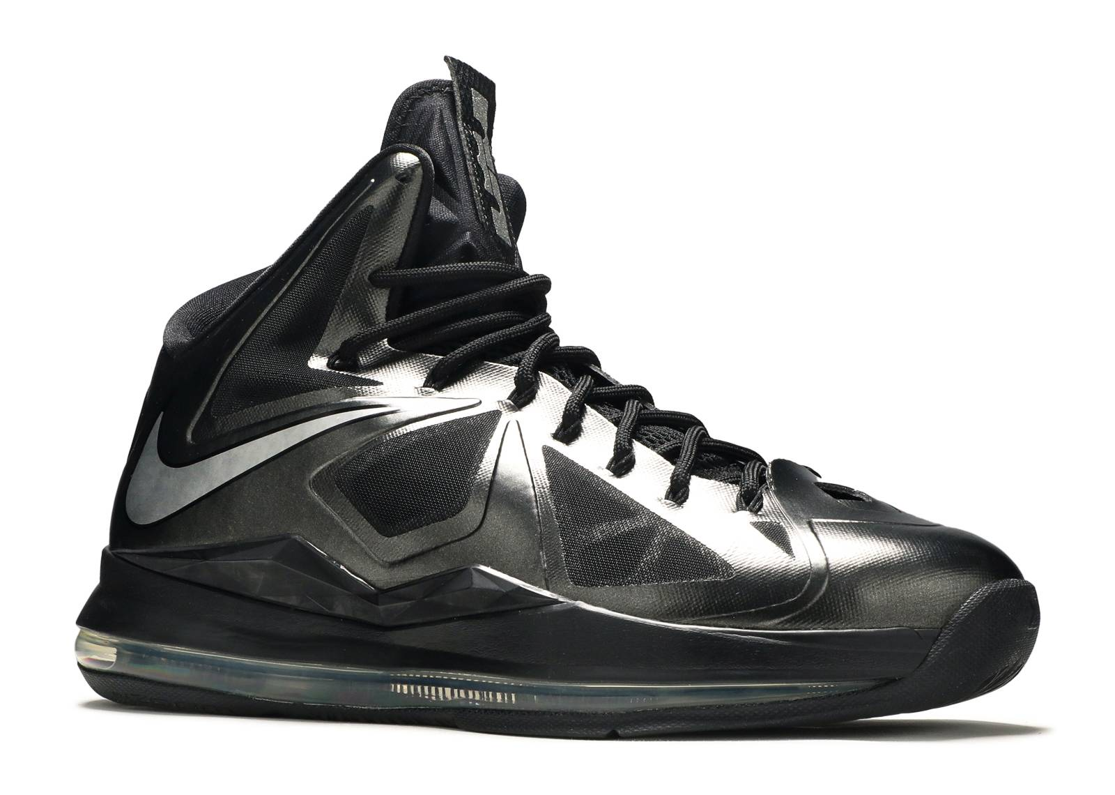 lebron 10 carbon black/metallic silver-anthracite diamond