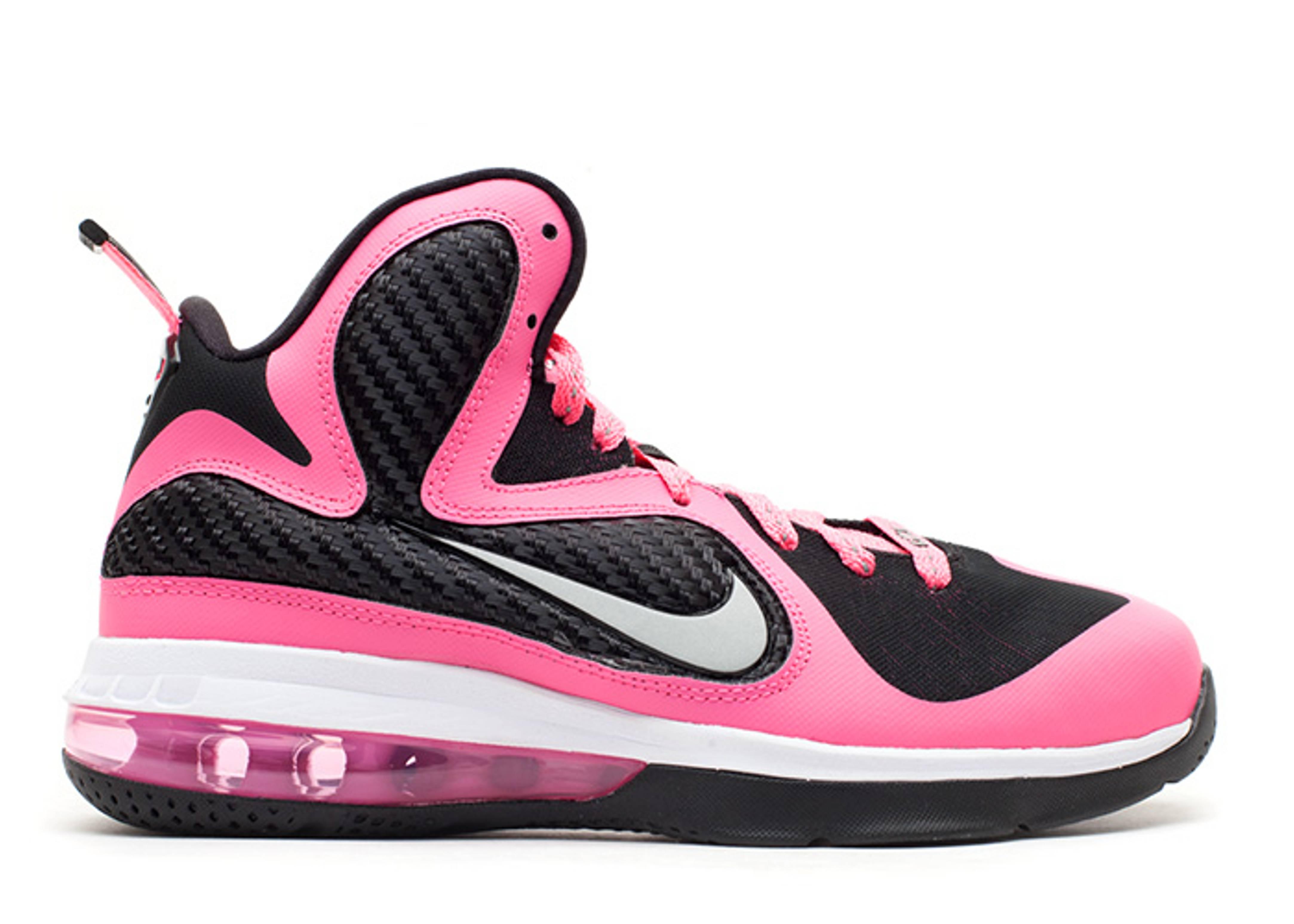 huge discount 8f76e de969 Lebron 9 (gs) - Nike - 472664 600 - laser pink metallic silver-blk ...