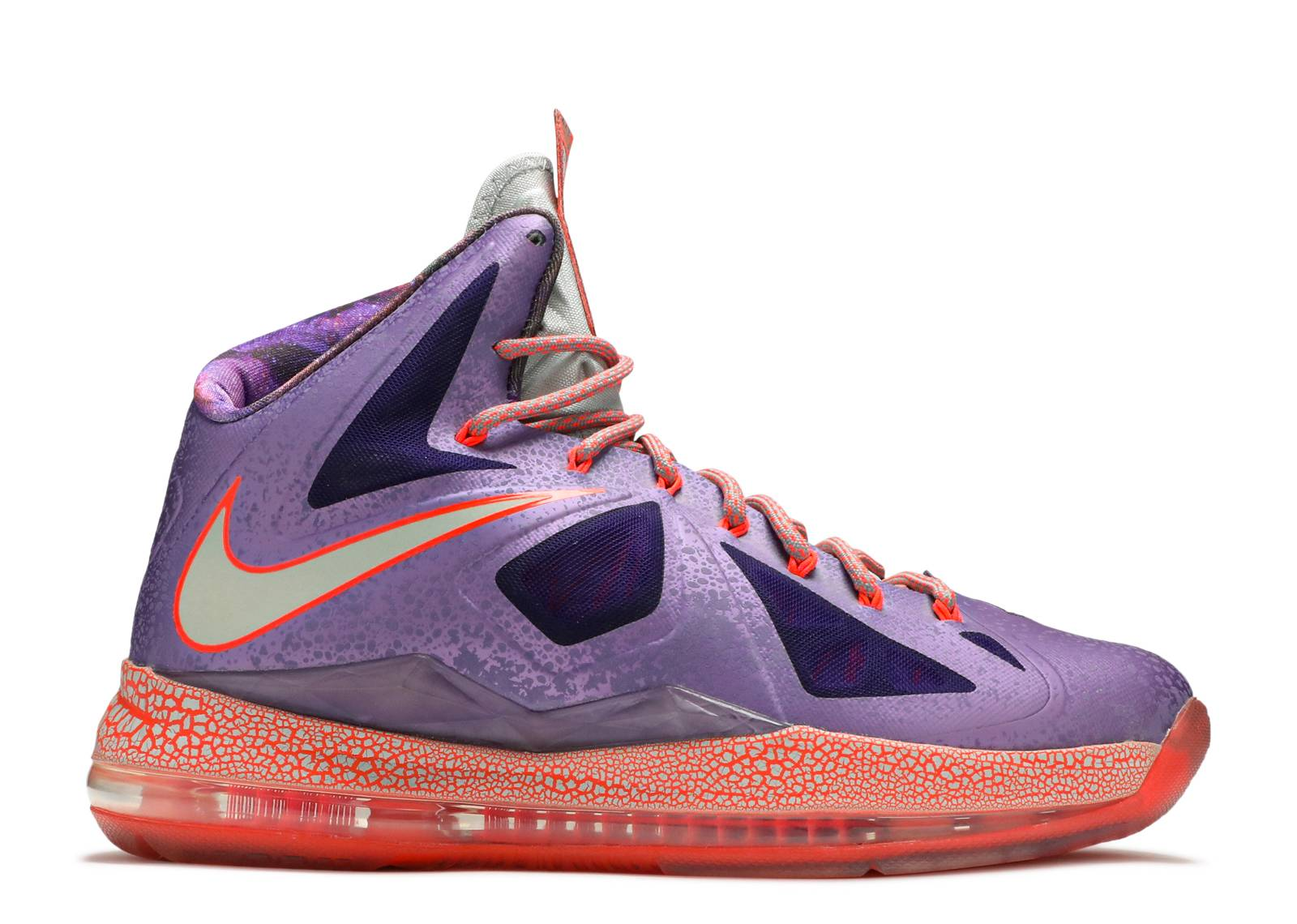 "lebron 10 as ""extraterrestrial"" - laser purple/strata grey ..."