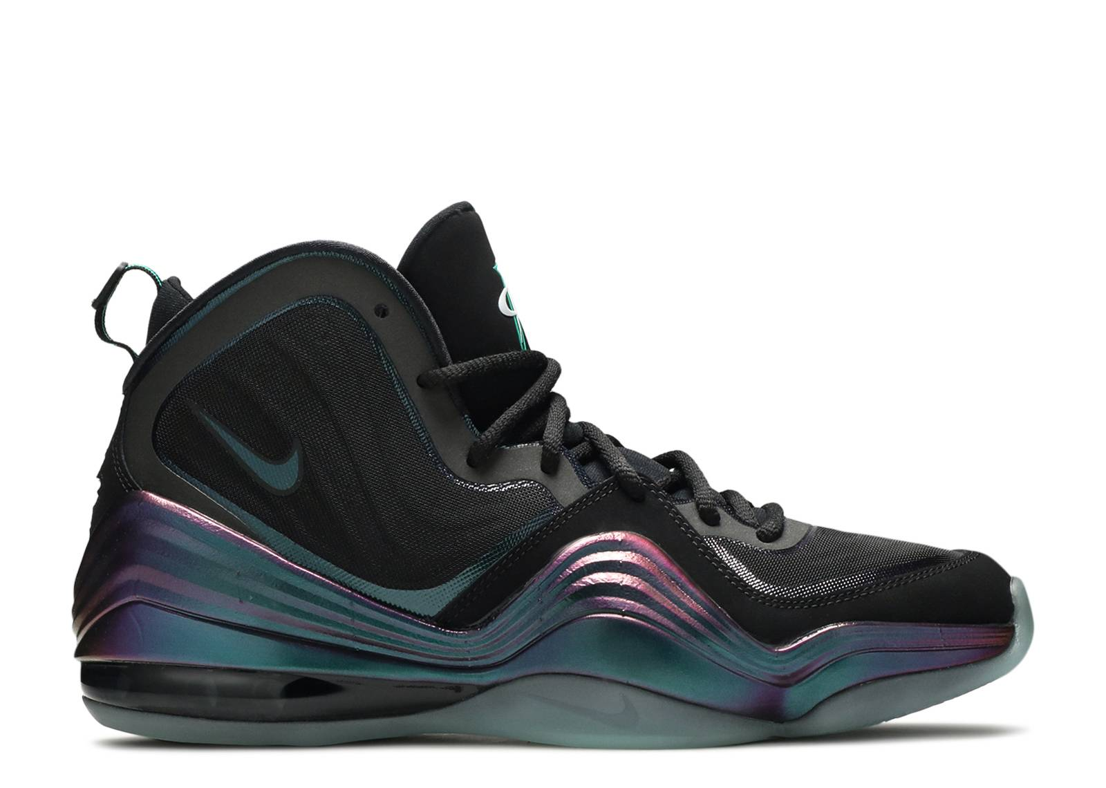 air penny 5 invisibility cloak nike 537331 002 black atomic teal purple flight club
