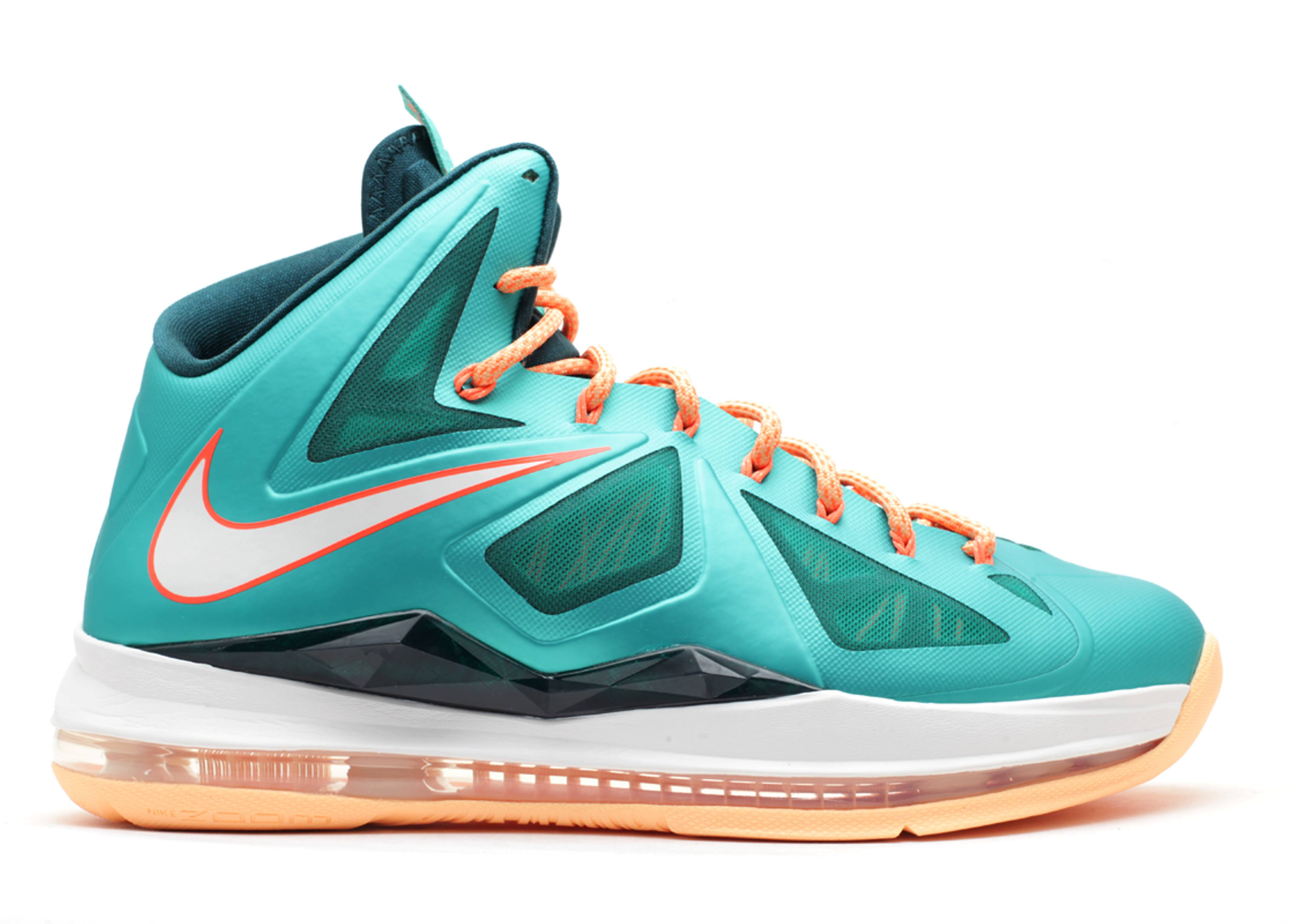 """Lebron 10 """"miami Dolphins"""" - Nike - 541100 302 - atmc tl ..."""