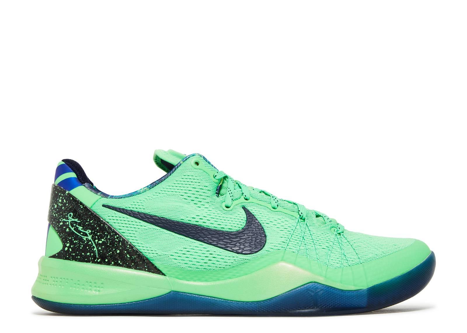 Men's Nike Kobe 8 VIII System Elite Superhero Poison Green Black Sneakers : C89o864