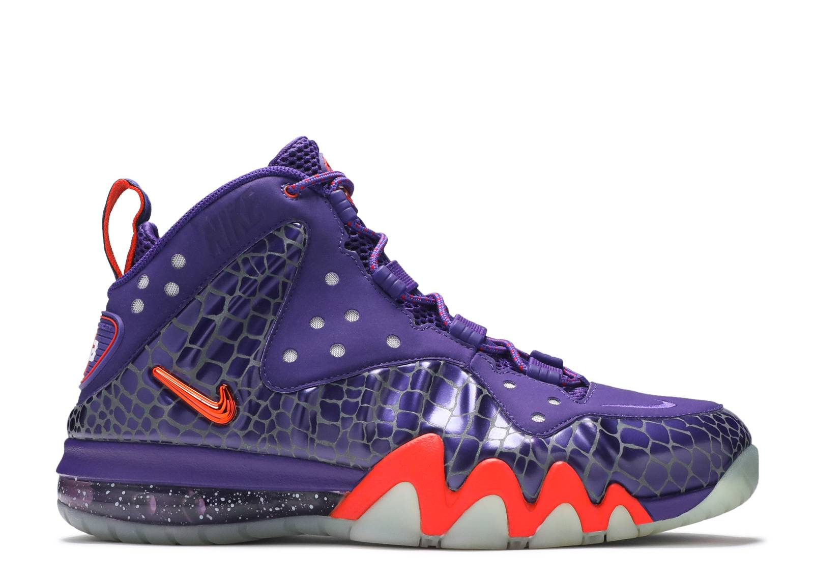 Buy 231674 Nike Barkley Posite Max Men Court Purple Orange Shoes