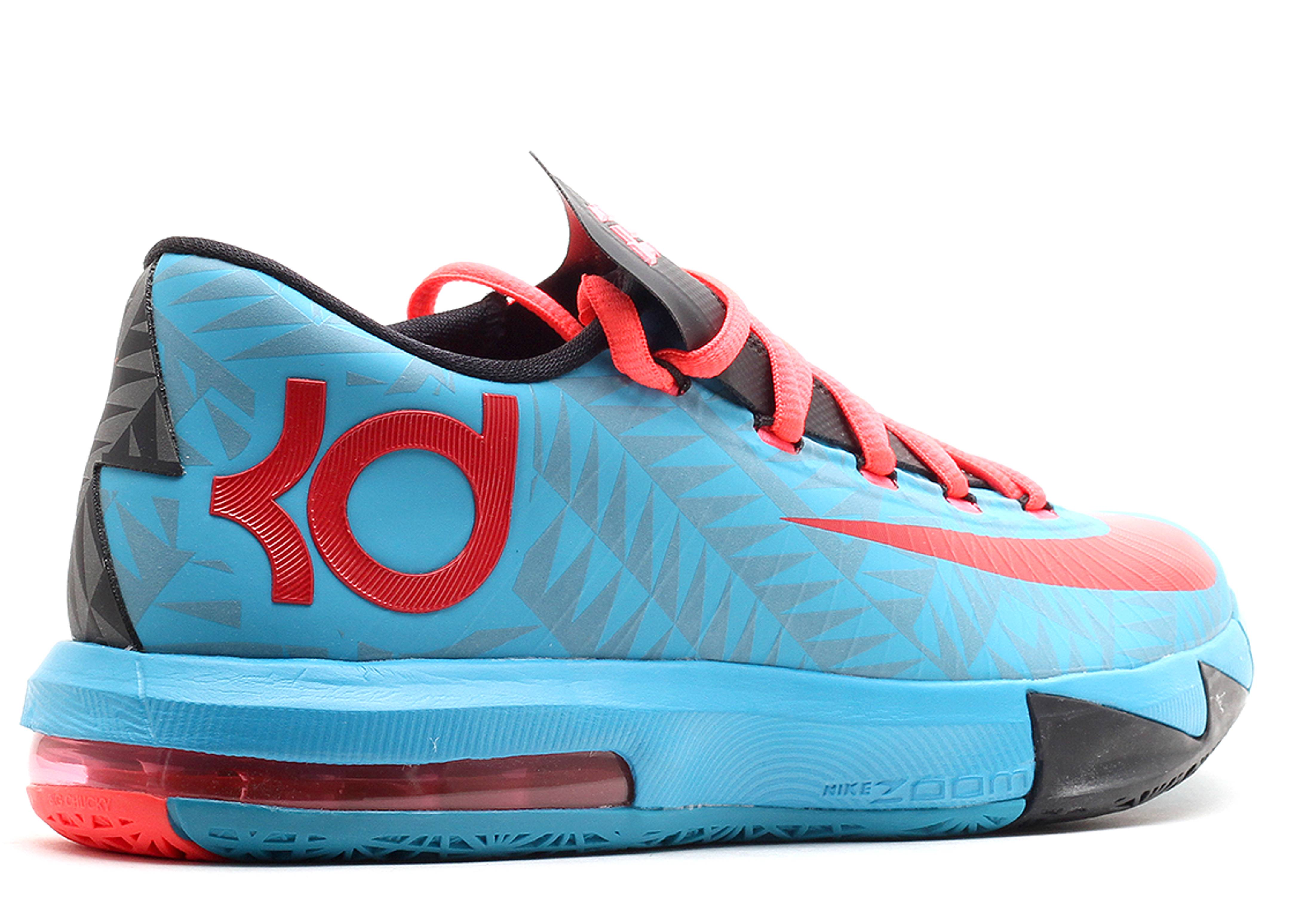 Kd 6 N7 - Nike - 626368 466 - dk trqs/unvrsty rd-blck-atmc r   Flight Club