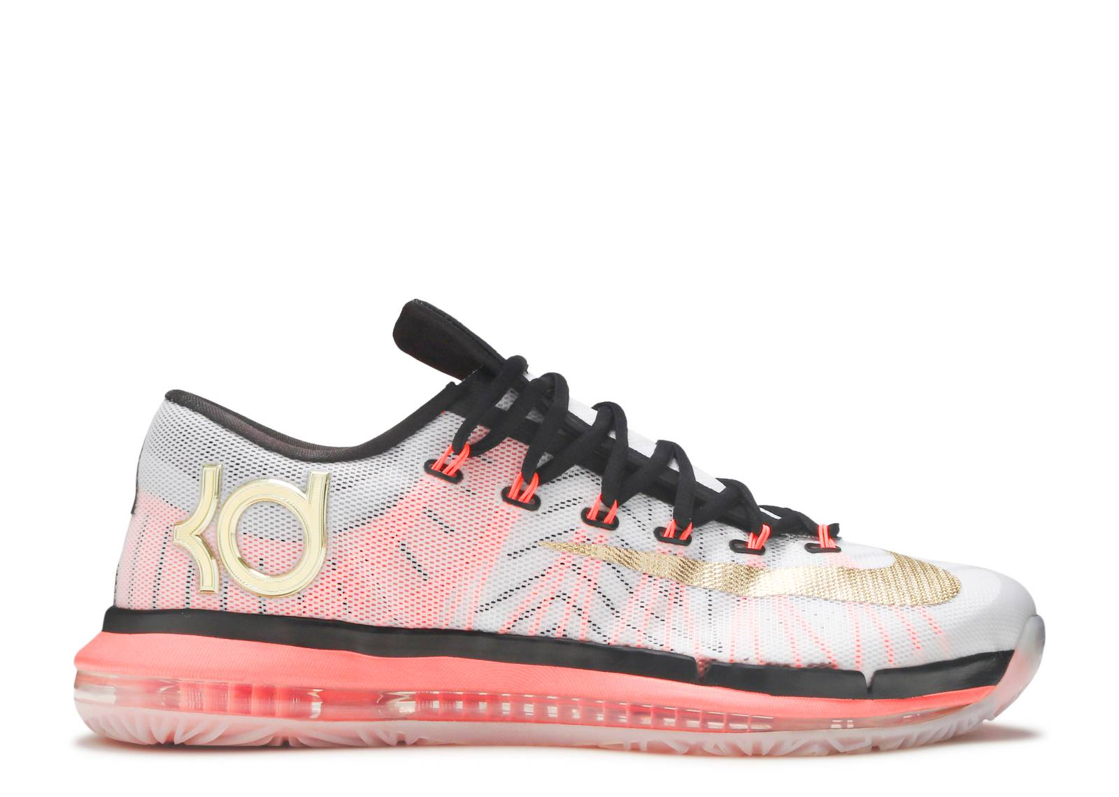 the best attitude 534fd 0e690 ... promo code kd 6 elite gold nike 642838 100 white metallic gold pure  platinum black flight