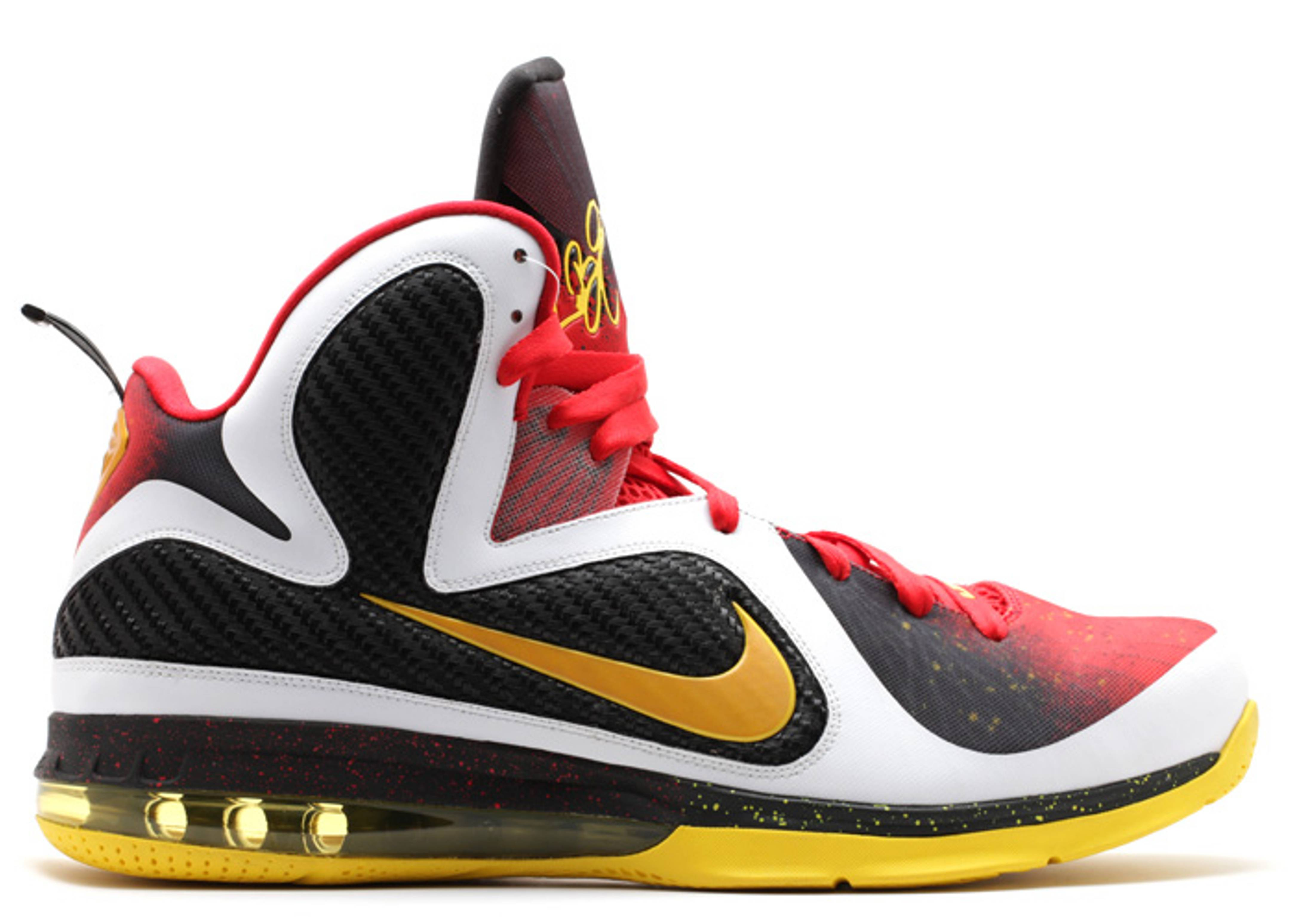lebron 9 white-red-yellow/black