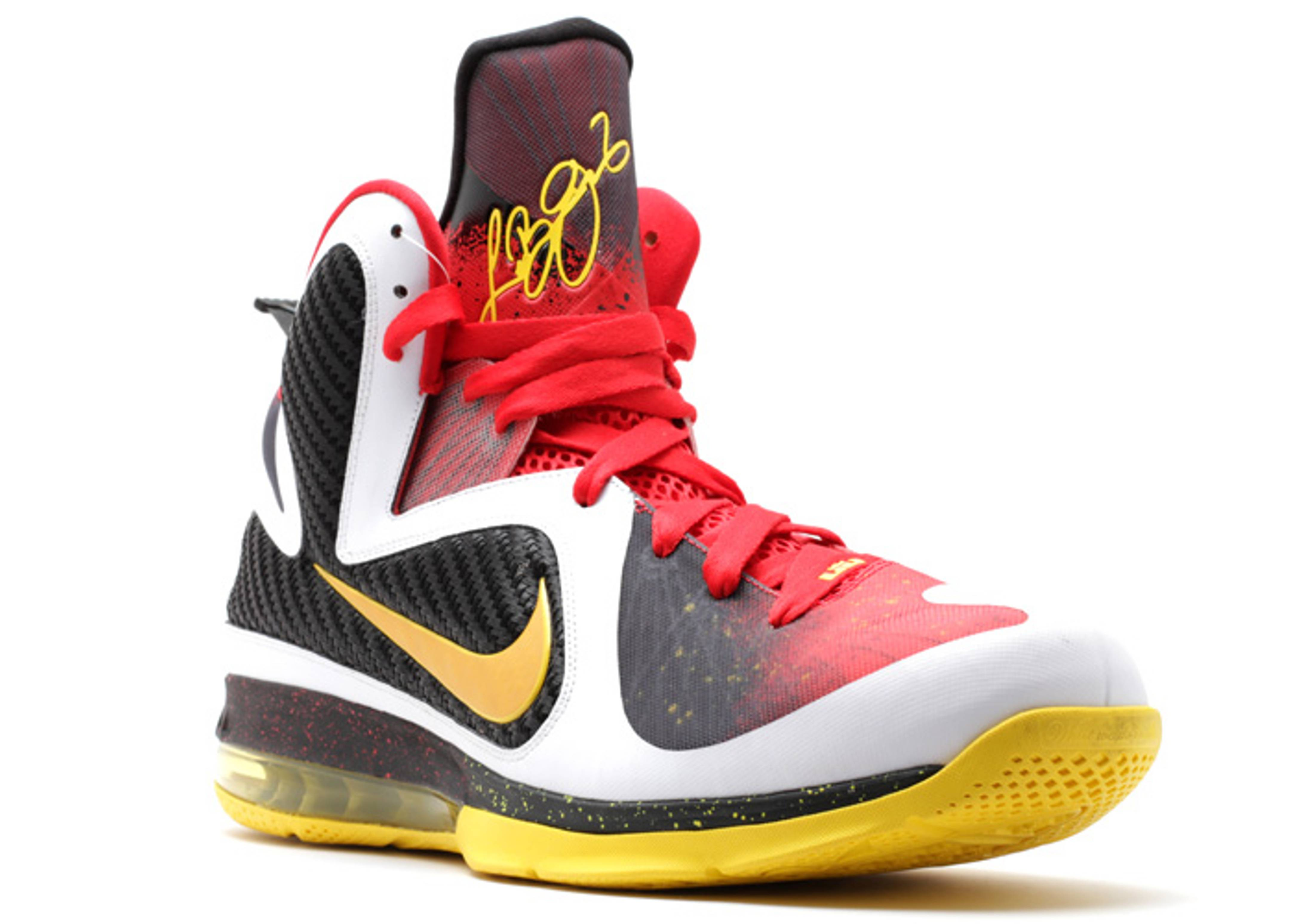 """lebron 9 """"championship pack look-see p.e."""" - white-red ..."""