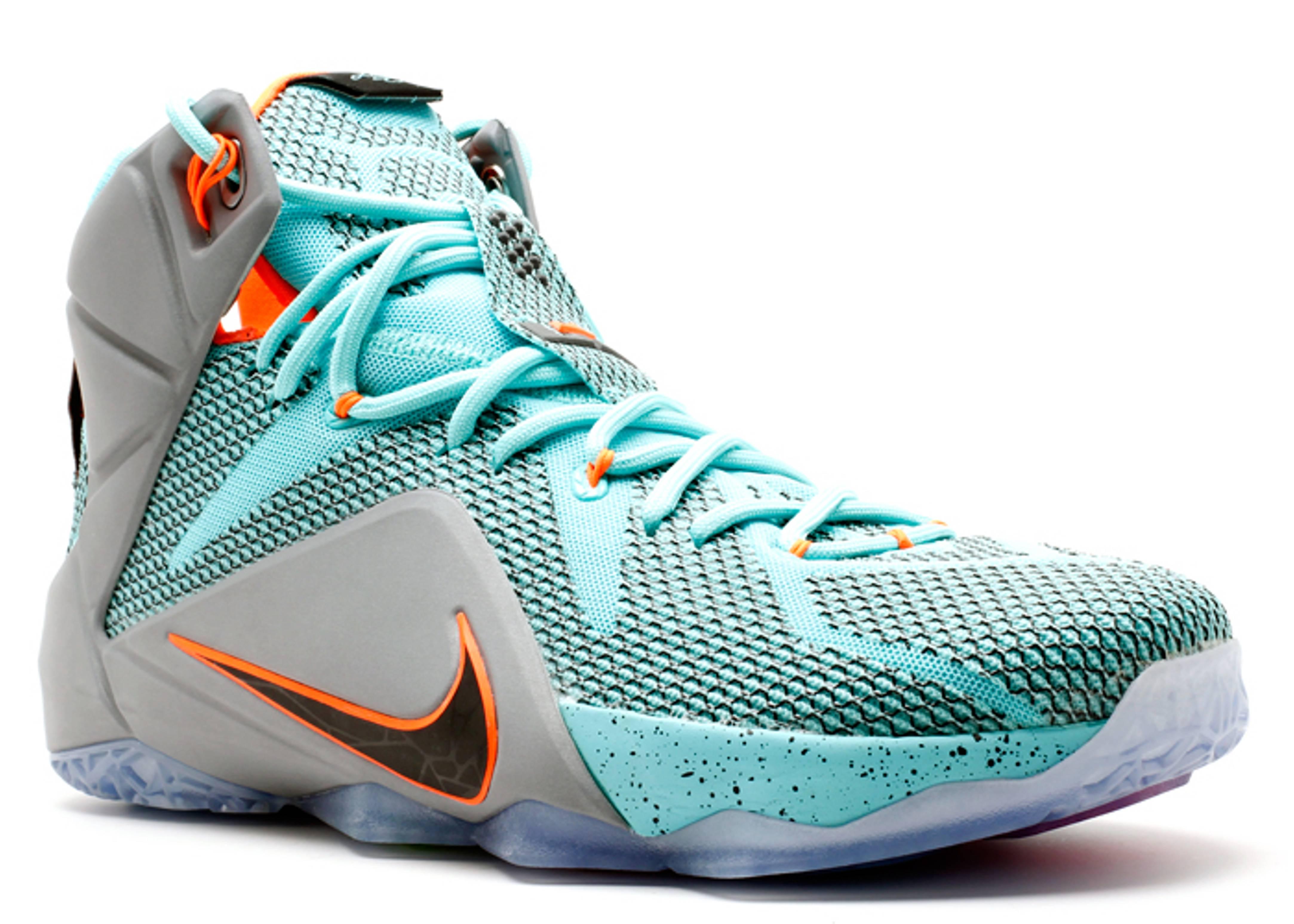 "Lebron 12 ""nsrl"" - Nike - 684593 301 - hypr trq/blck-mtlc ..."