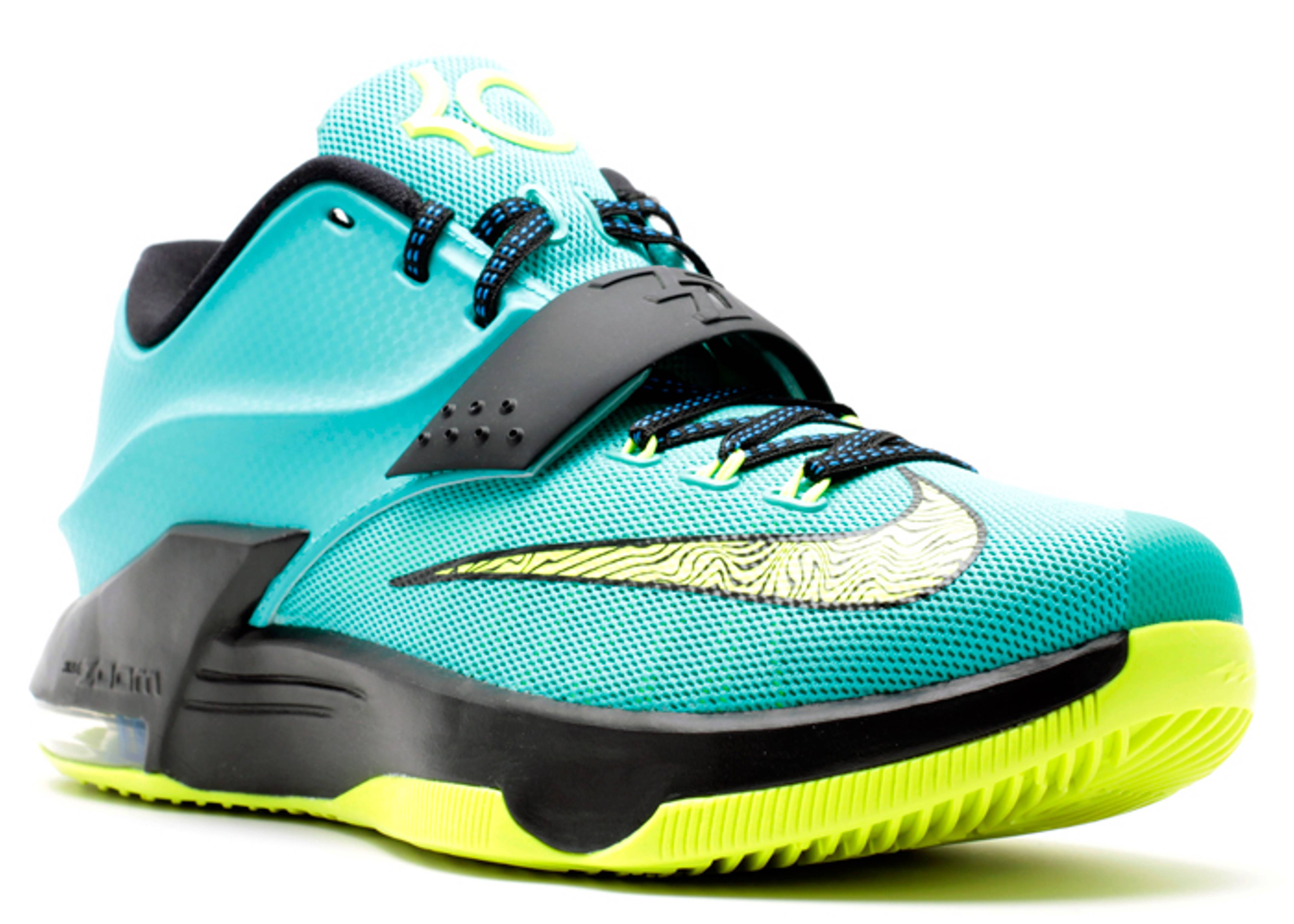 "Kd 7 ""uprising"" - Nike - 653996 370 - hyper jade/volt ..."
