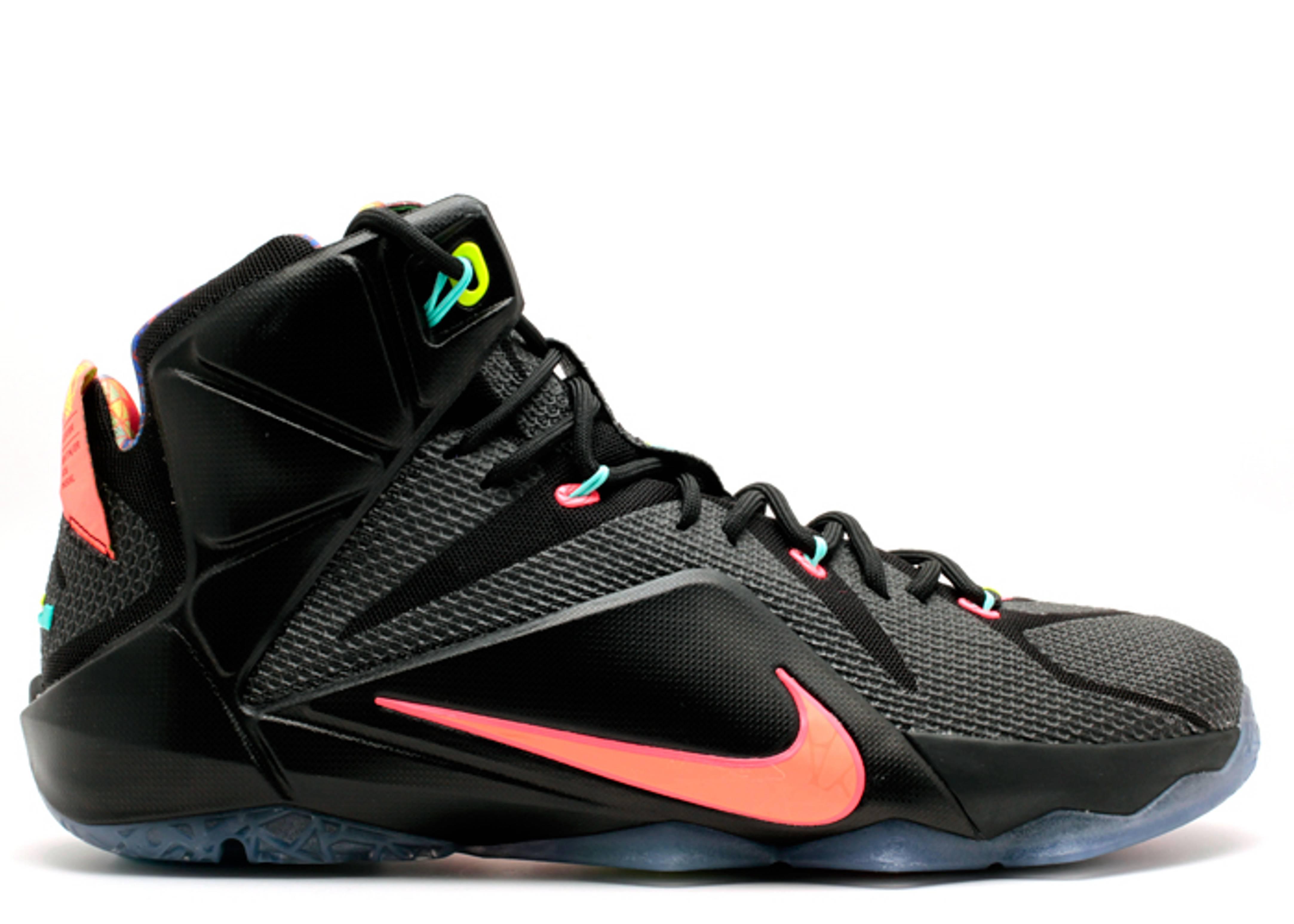 "Lebron 12 ""data"" - Nike - 684593 068 - black/brght mng ..."