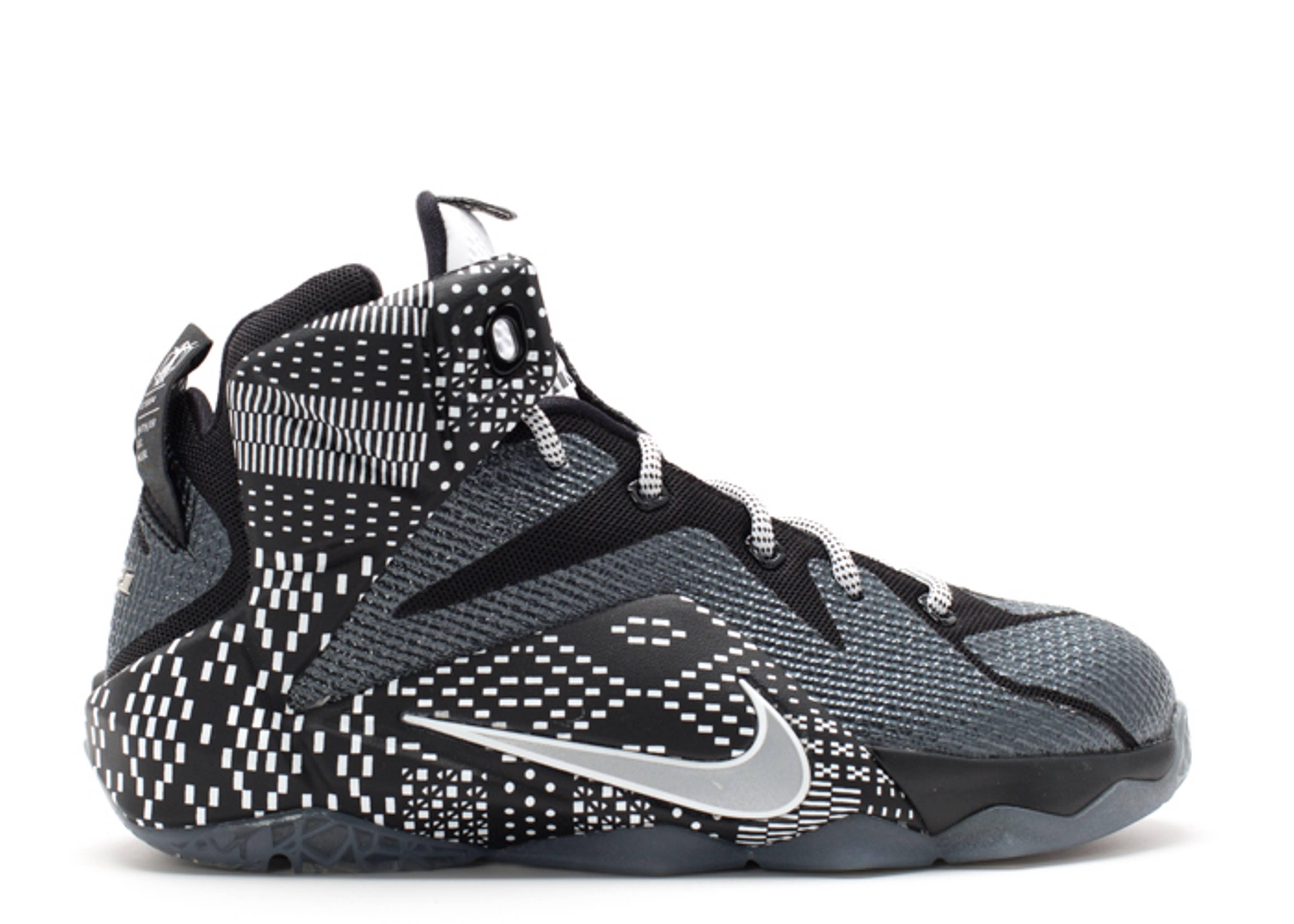 innovative design 2f04e c1f89 Lebron 12 Bhm (gs) - Nike - 726217 001 - black/white-metallic silver    Flight Club