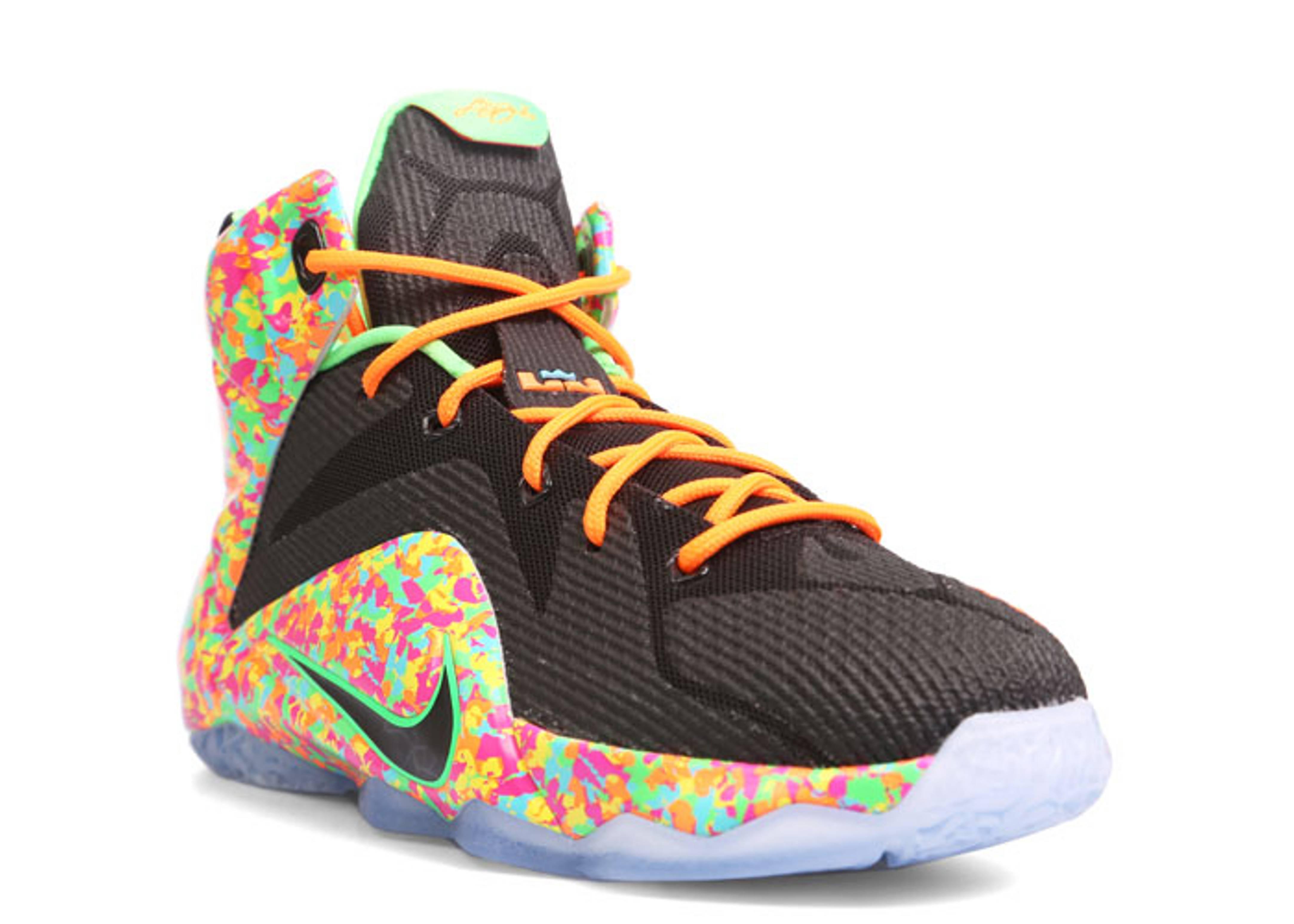 """Lebron 12 (gs) """"fruity Pebbles"""" - Nike - 685181 008 ..."""