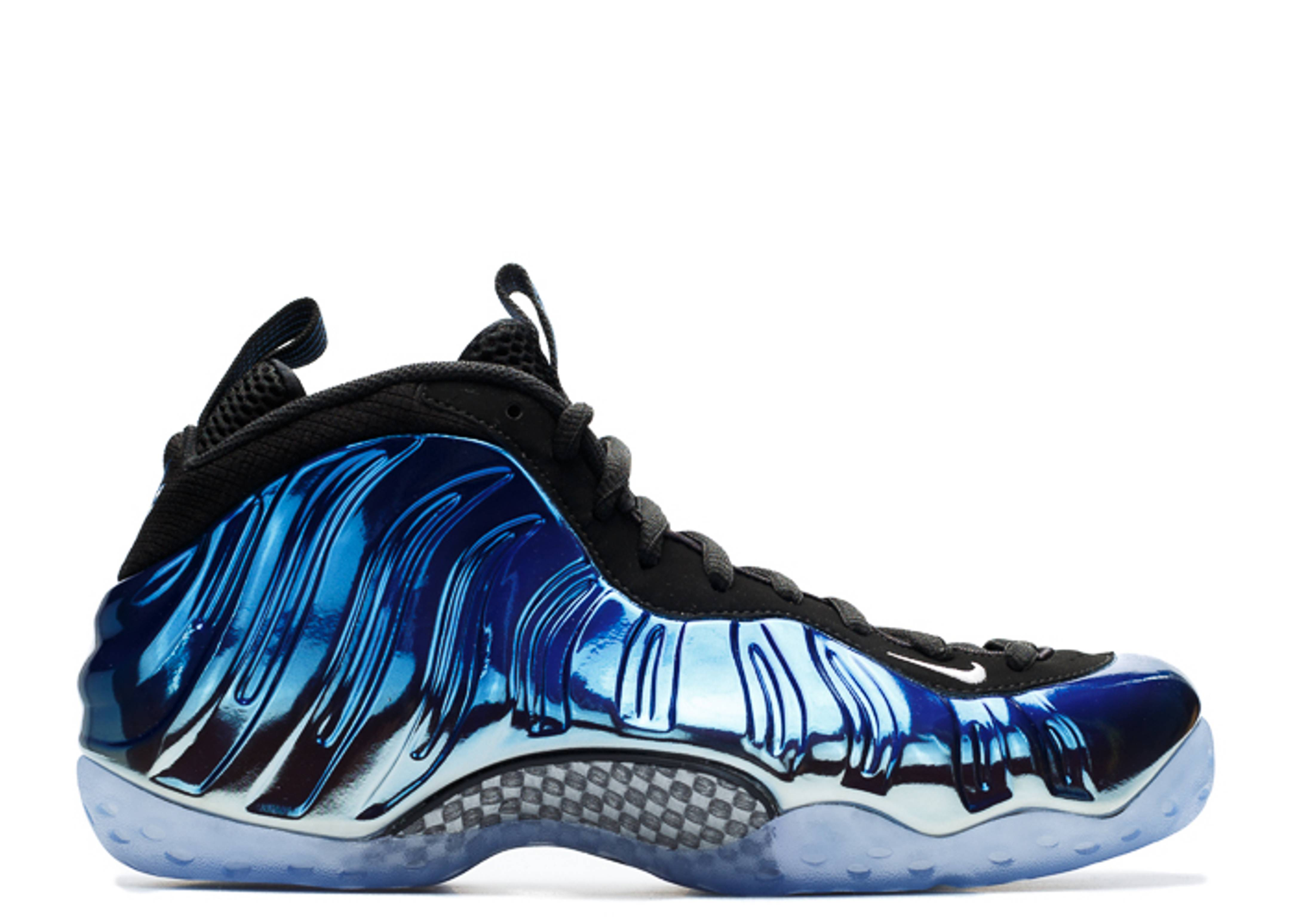 Nike Women Air Foamposite One Glitter Obsidian Sneakers ...