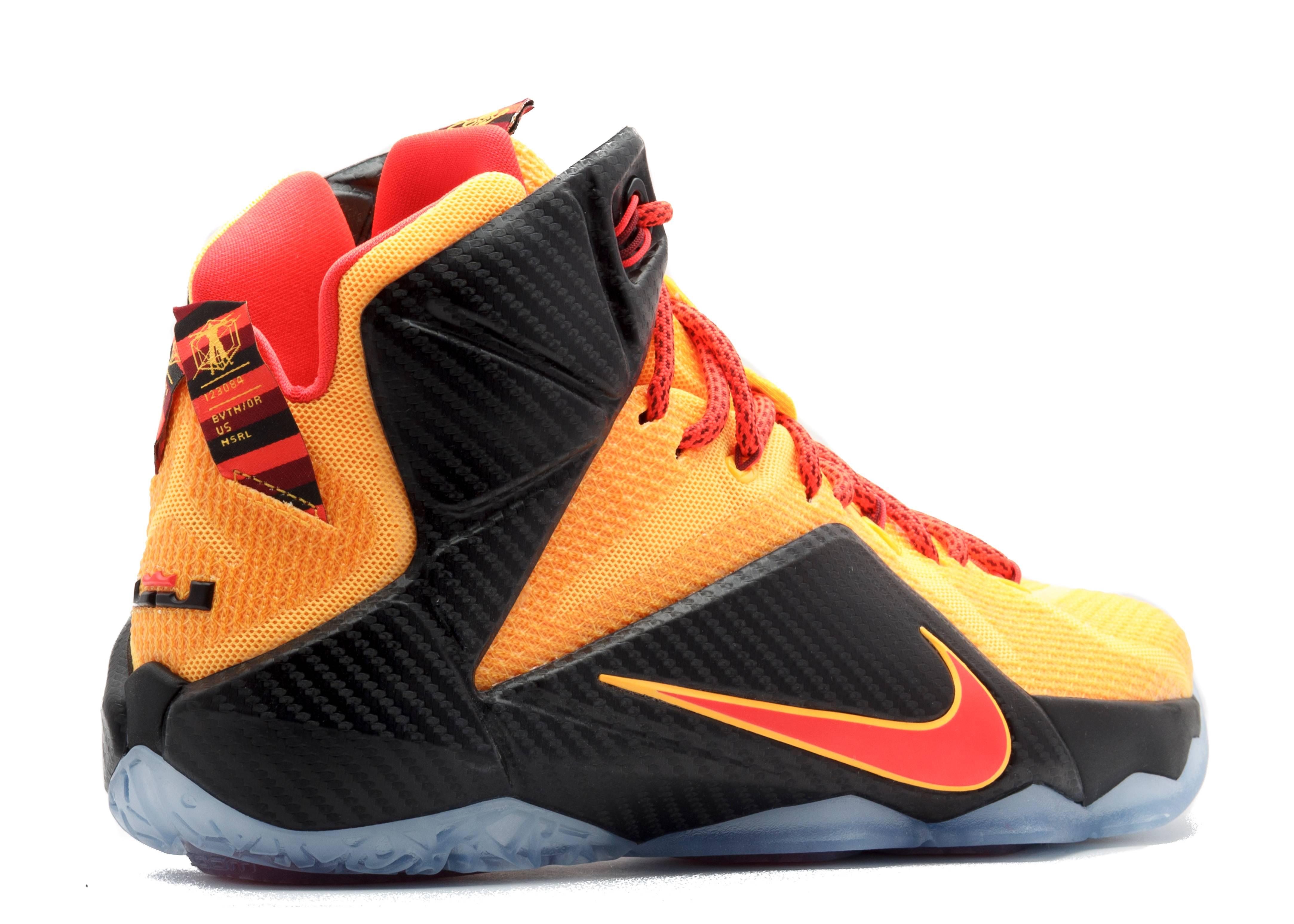 Lebron 12 - Nike - 684593 830 - laser orange/bright ...
