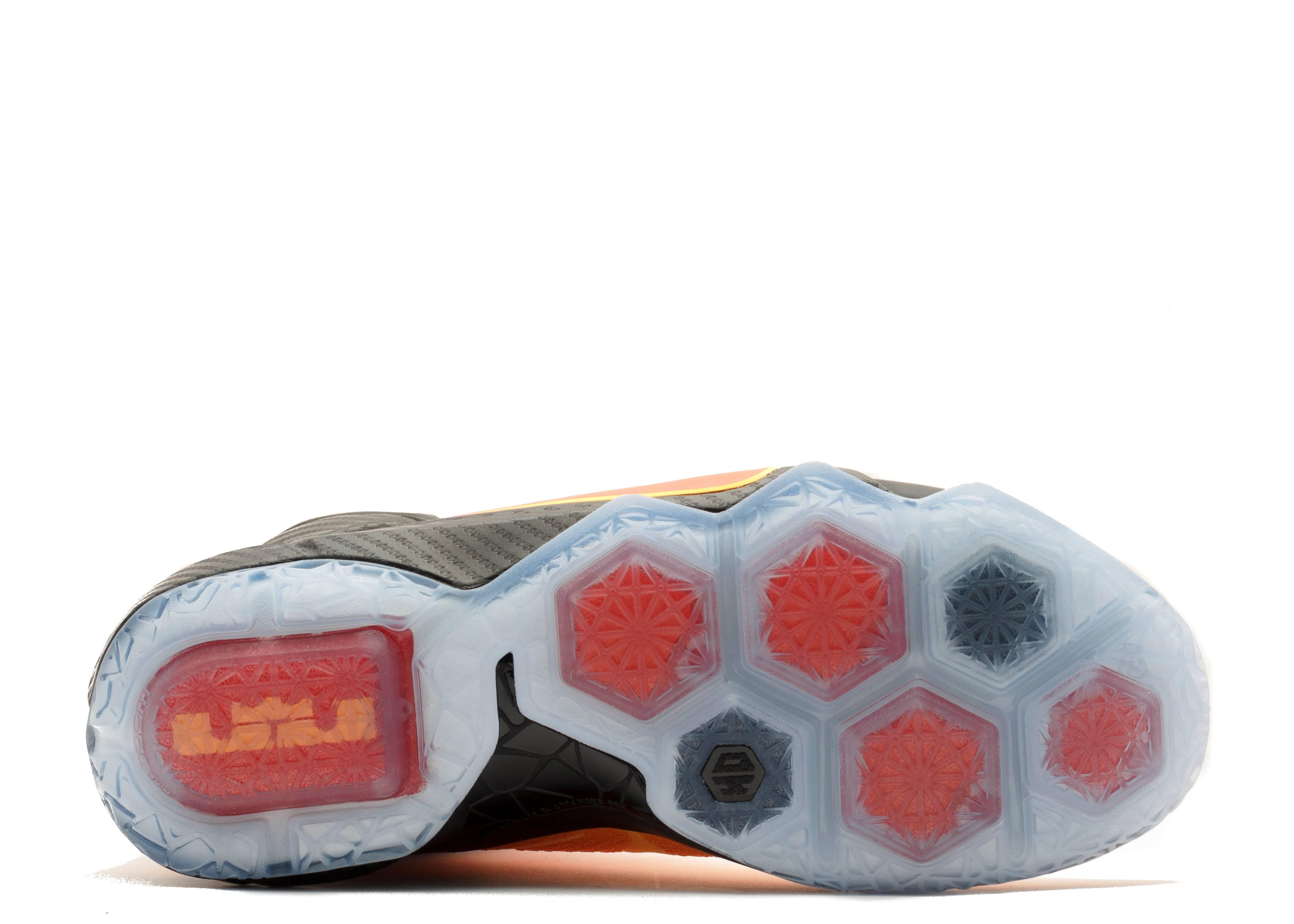 lebron 12 nike 684593 830 laser orange bright crimson flight