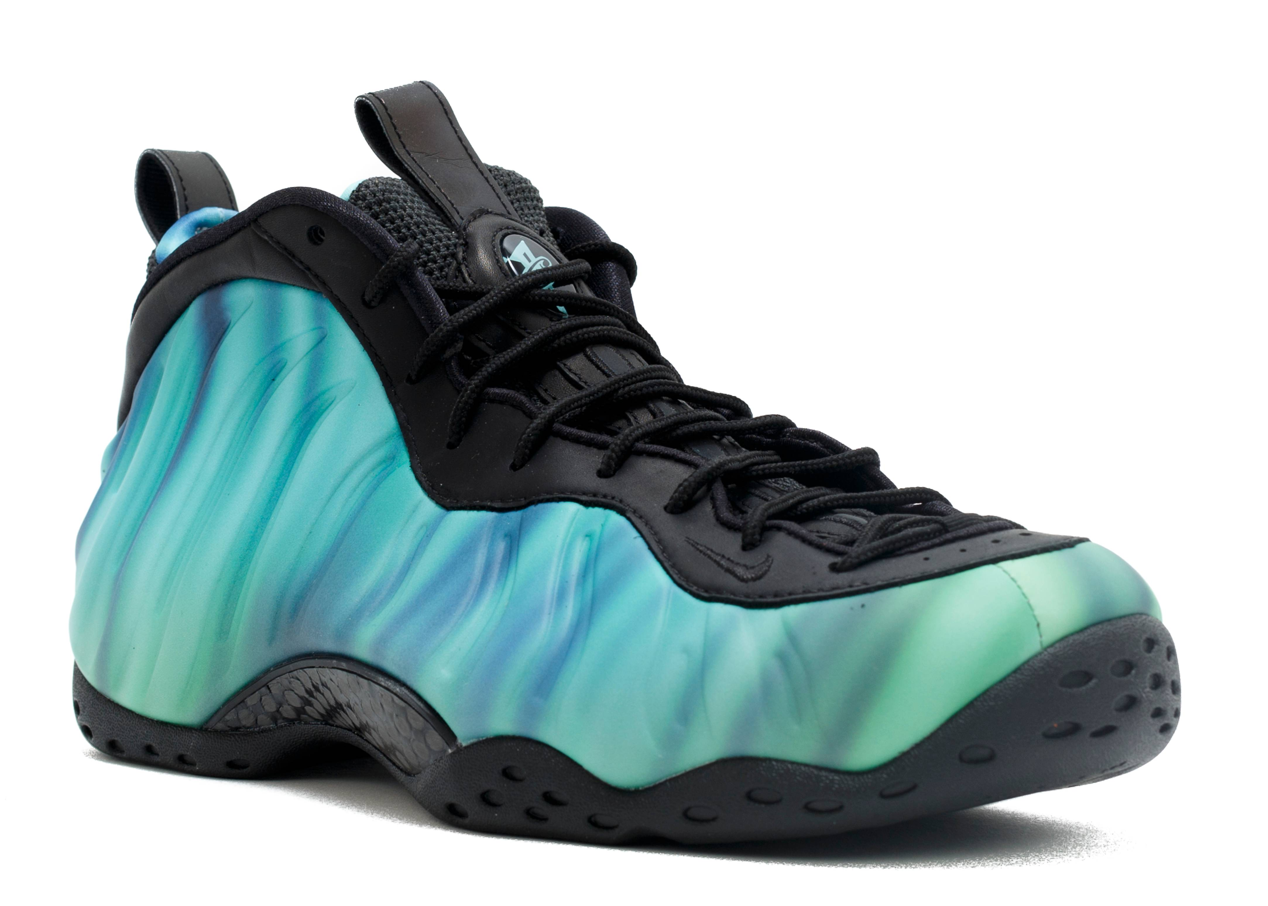 41fe615fc2b ... sale air foamposite one prm as qs northern lights nike 840559 001 black  green glow fierce