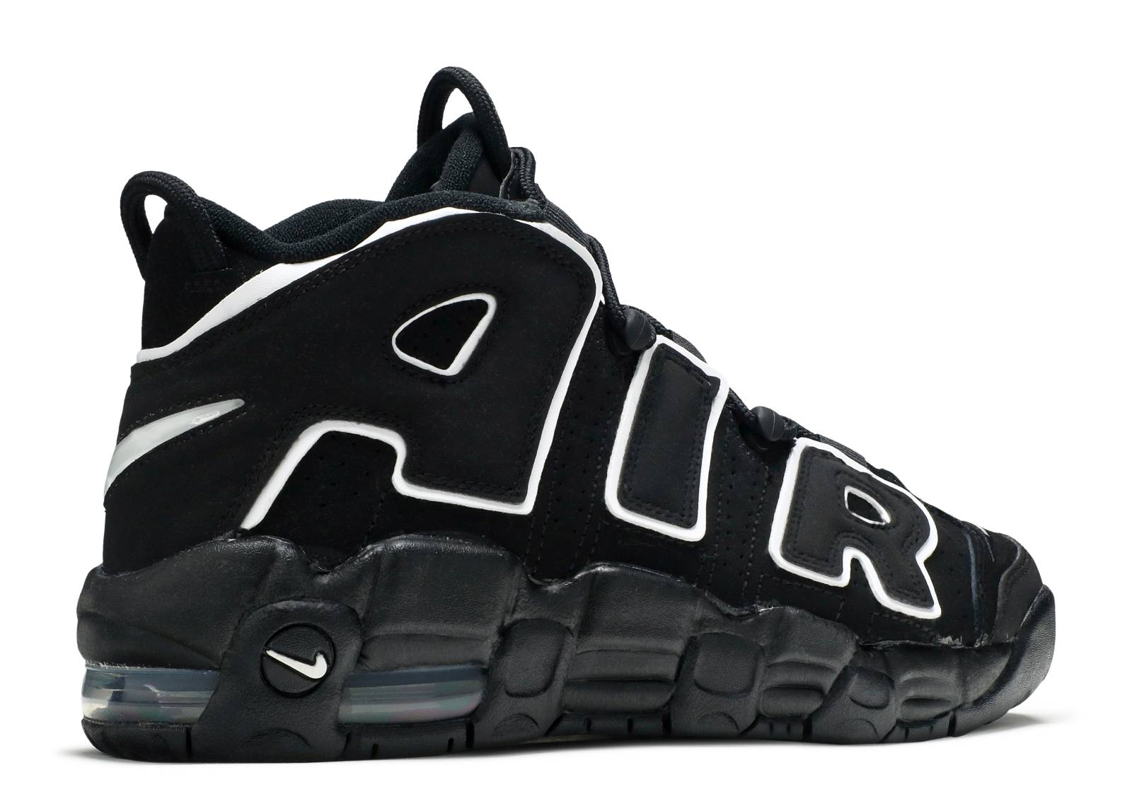 Nike Uptempo Black White Grey
