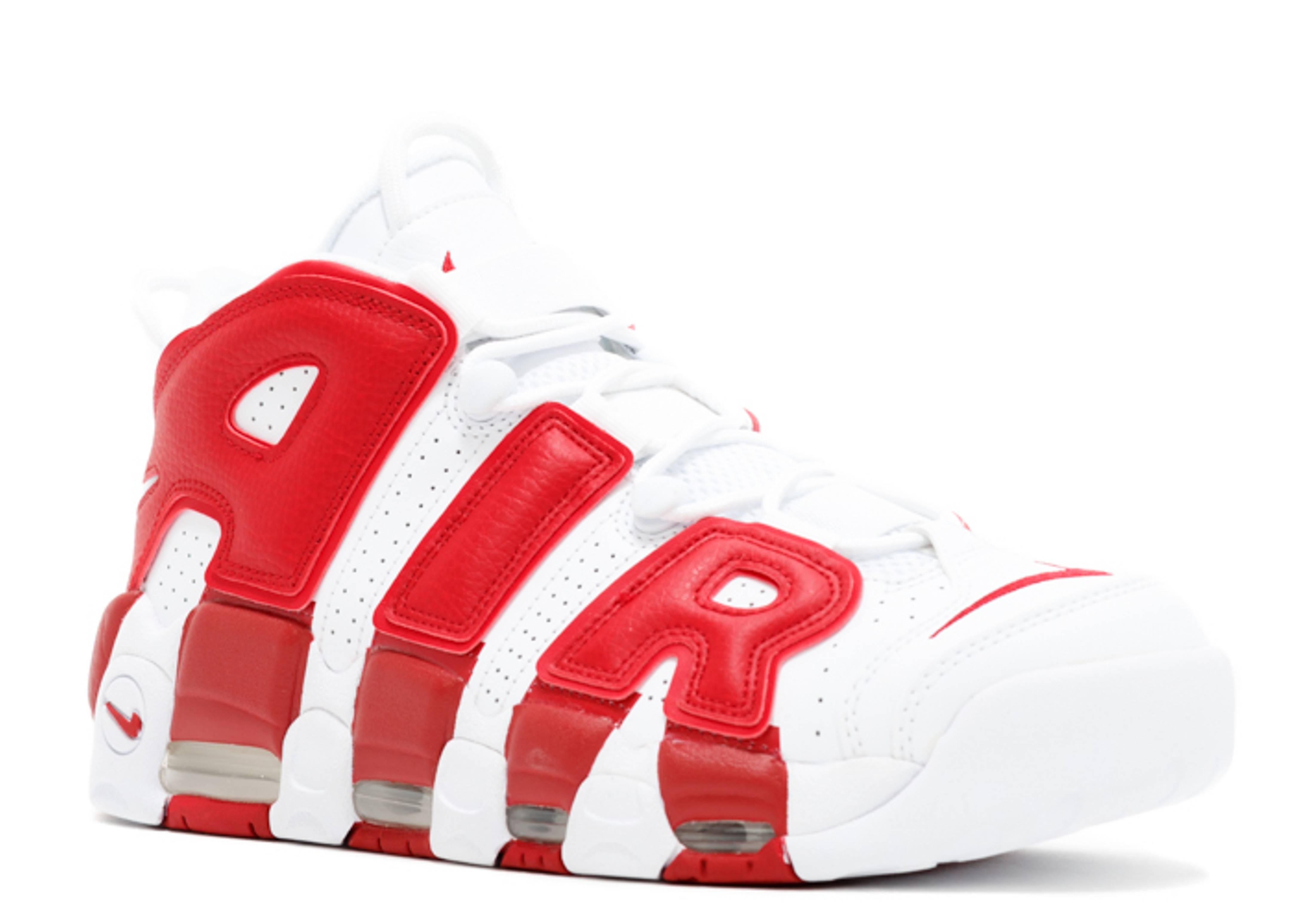 tubo Concurso Eficacia  Air More Uptempo 'White Red' - Nike - 414962 100 - white/white-gym red |  Flight Club