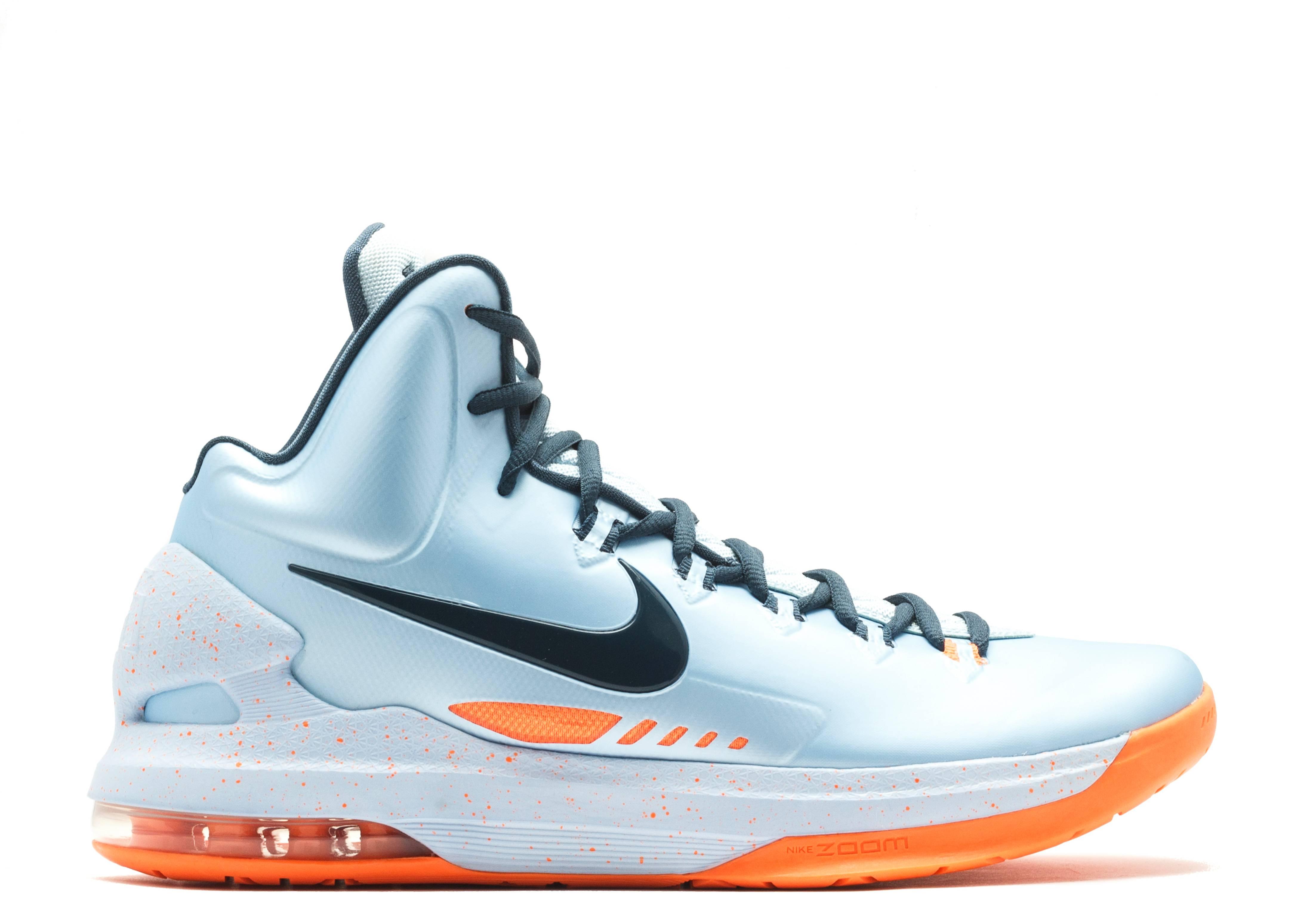 38e92b798b85 Kd V - Nike - 554988 400 - ice blue sqdrn blue-ttl orng