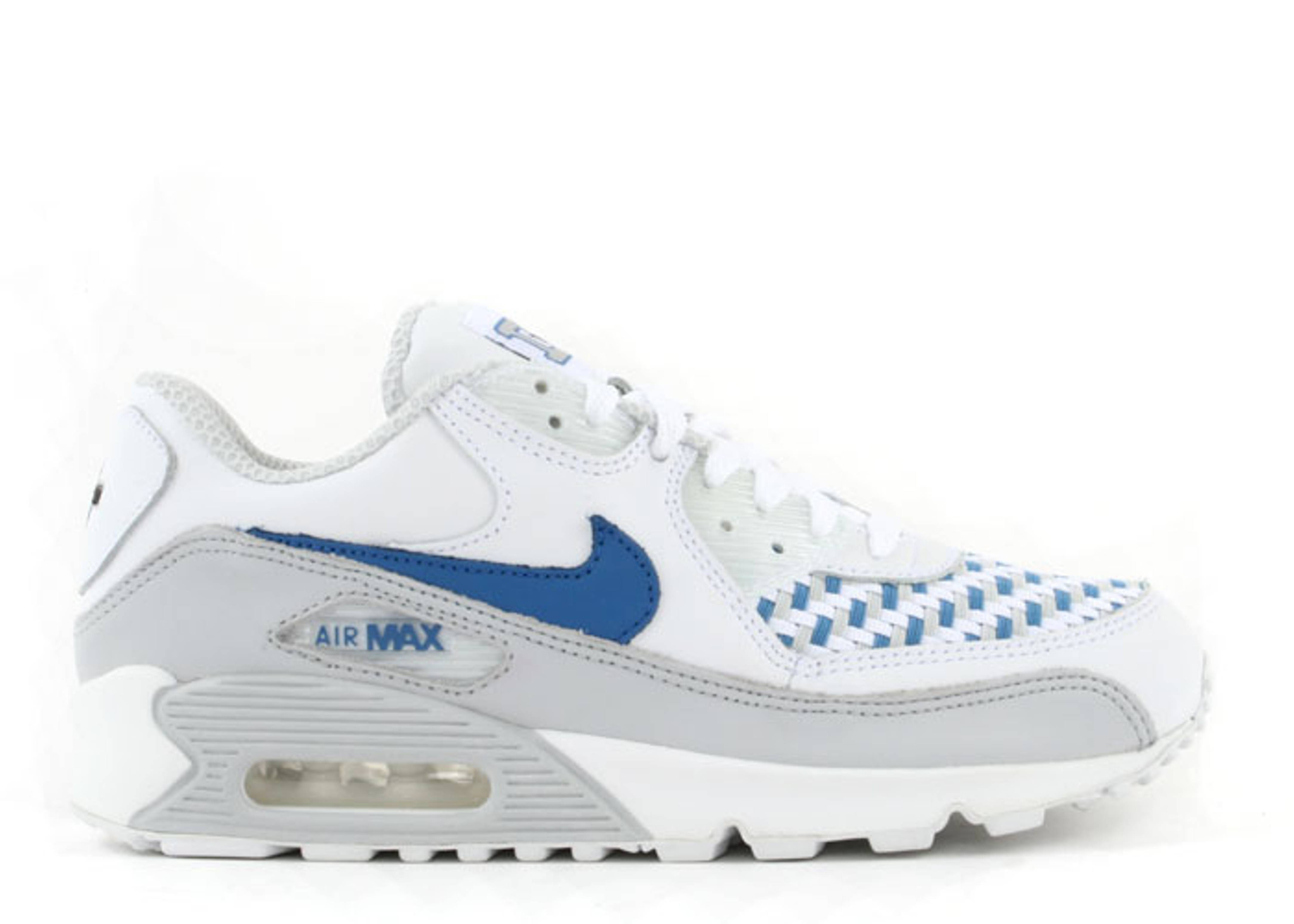 finest selection 3a477 82917 Air Max 90 Leather - Nike - 302519 144 - white varsity blue-neutral grey  (d-town)   Flight Club