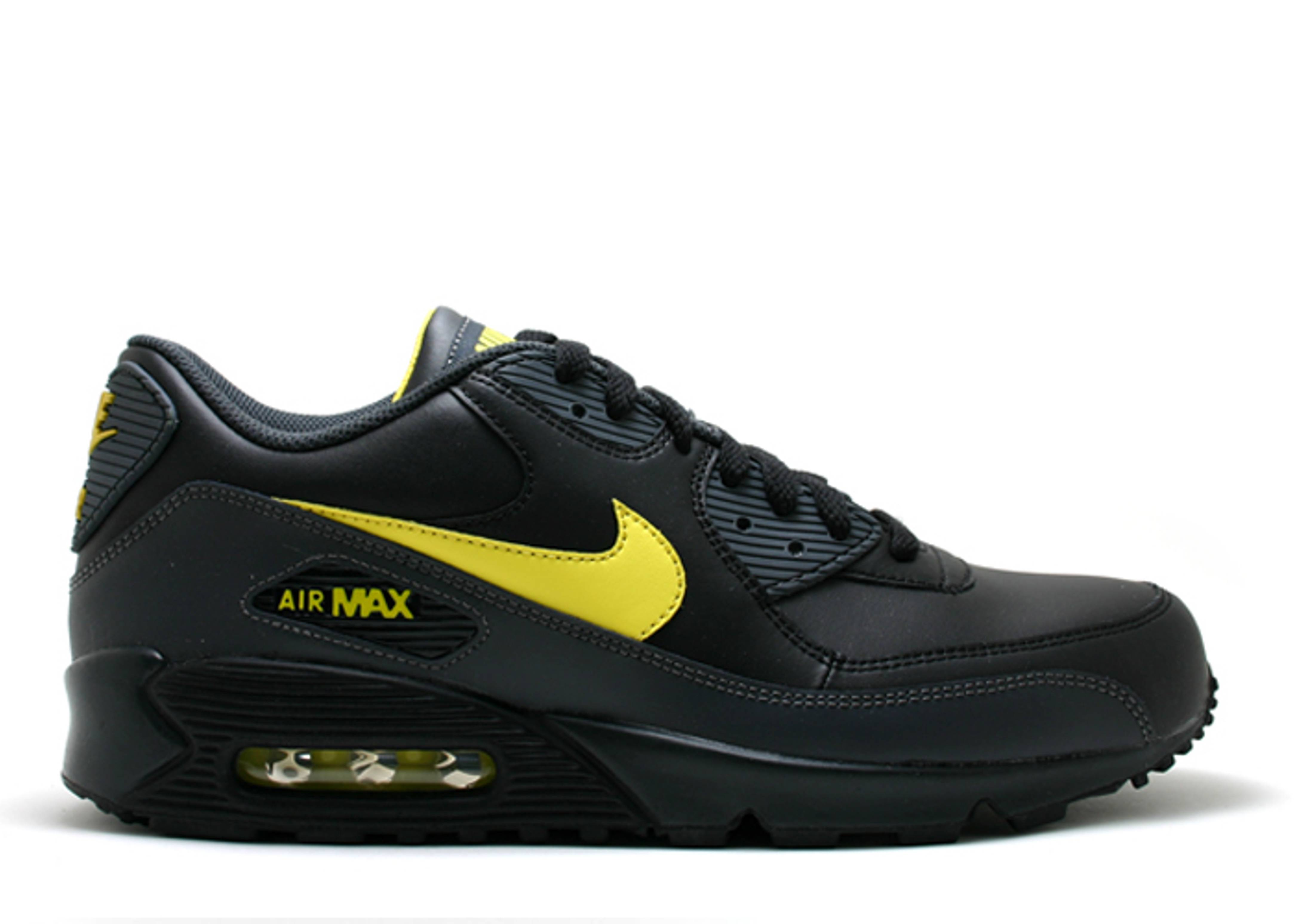 super popular a44fd e5f46 Air Max 90 Leather - Nike - 302519 073 - black zest-anthracite   Flight Club