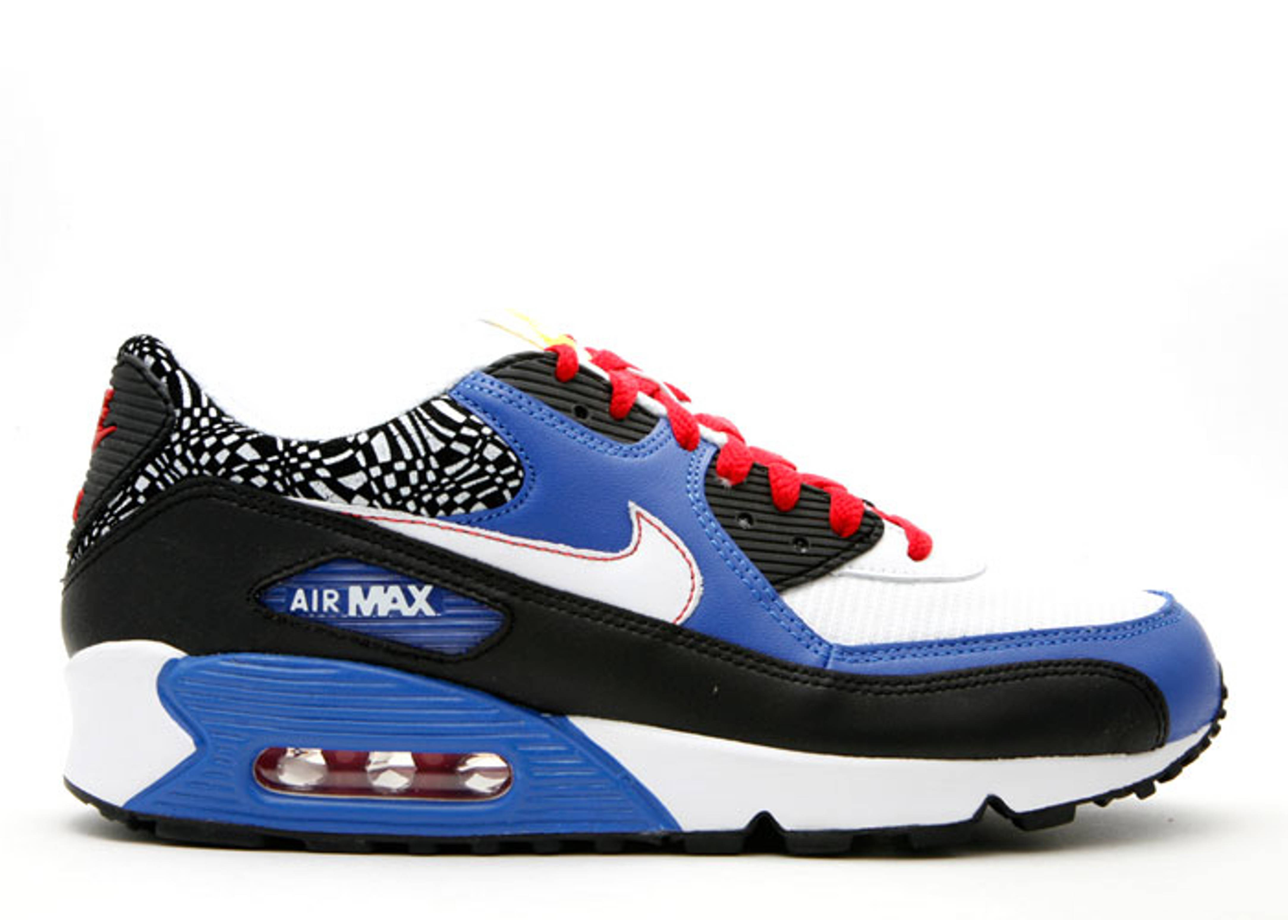 new concept 0882e bfbae Air Max 90 Leather - Nike - 302519 013 - black white-varsity royal-sport red    Flight Club