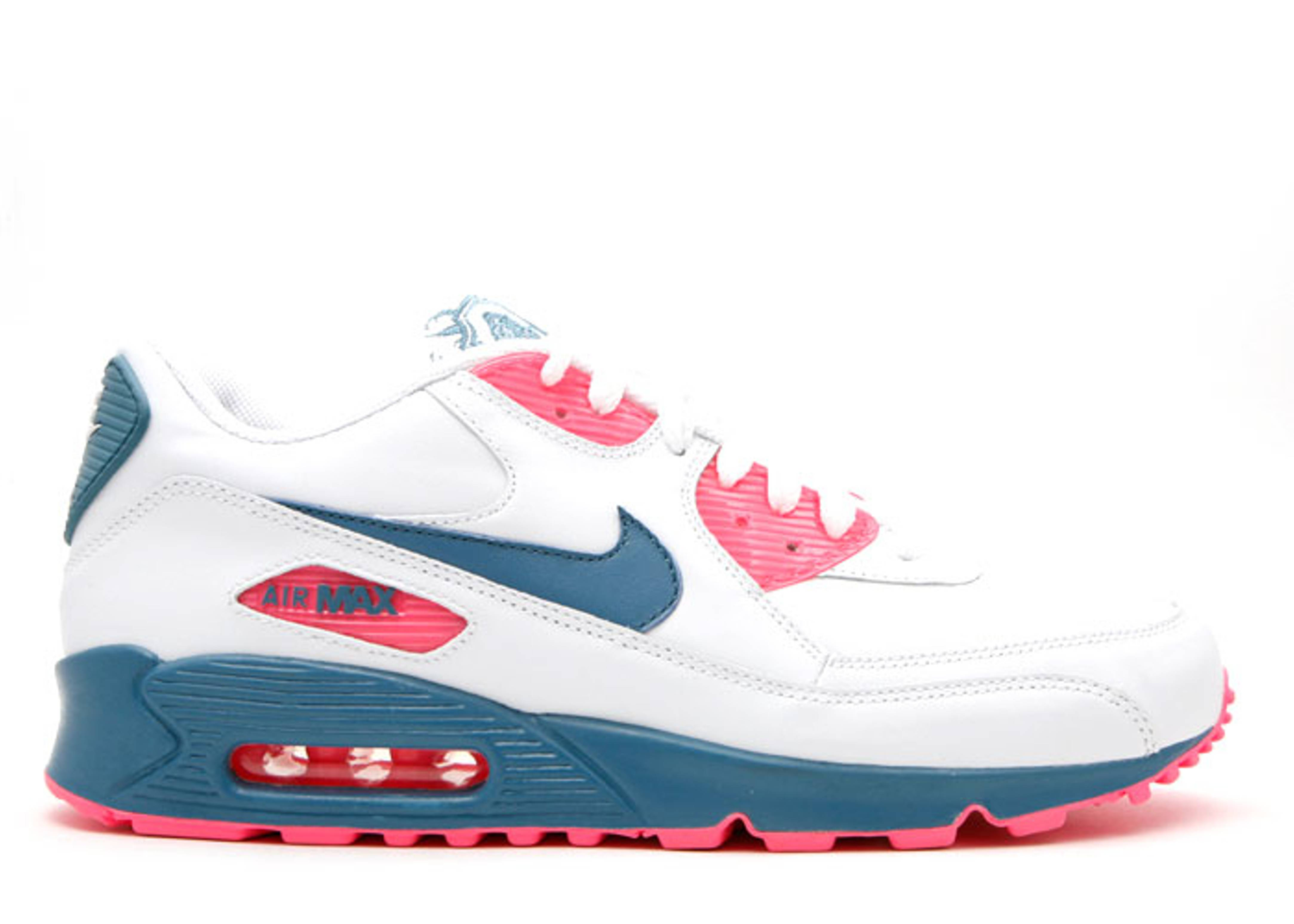 watch 86a9f f509c Wmns Air Max 90 Leather - Nike - 314455 141 - white/rift ...