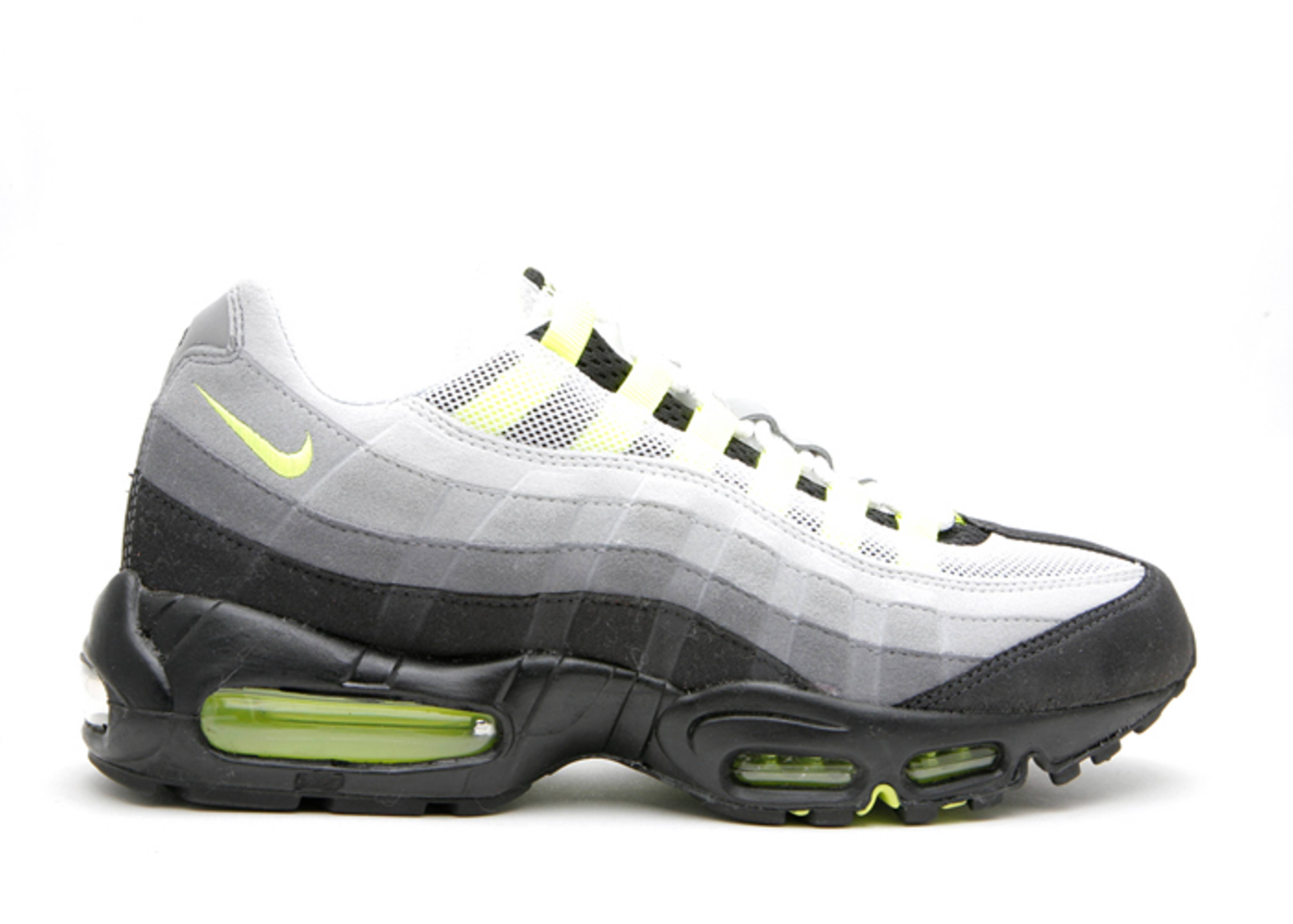 nike air max lime green and gray