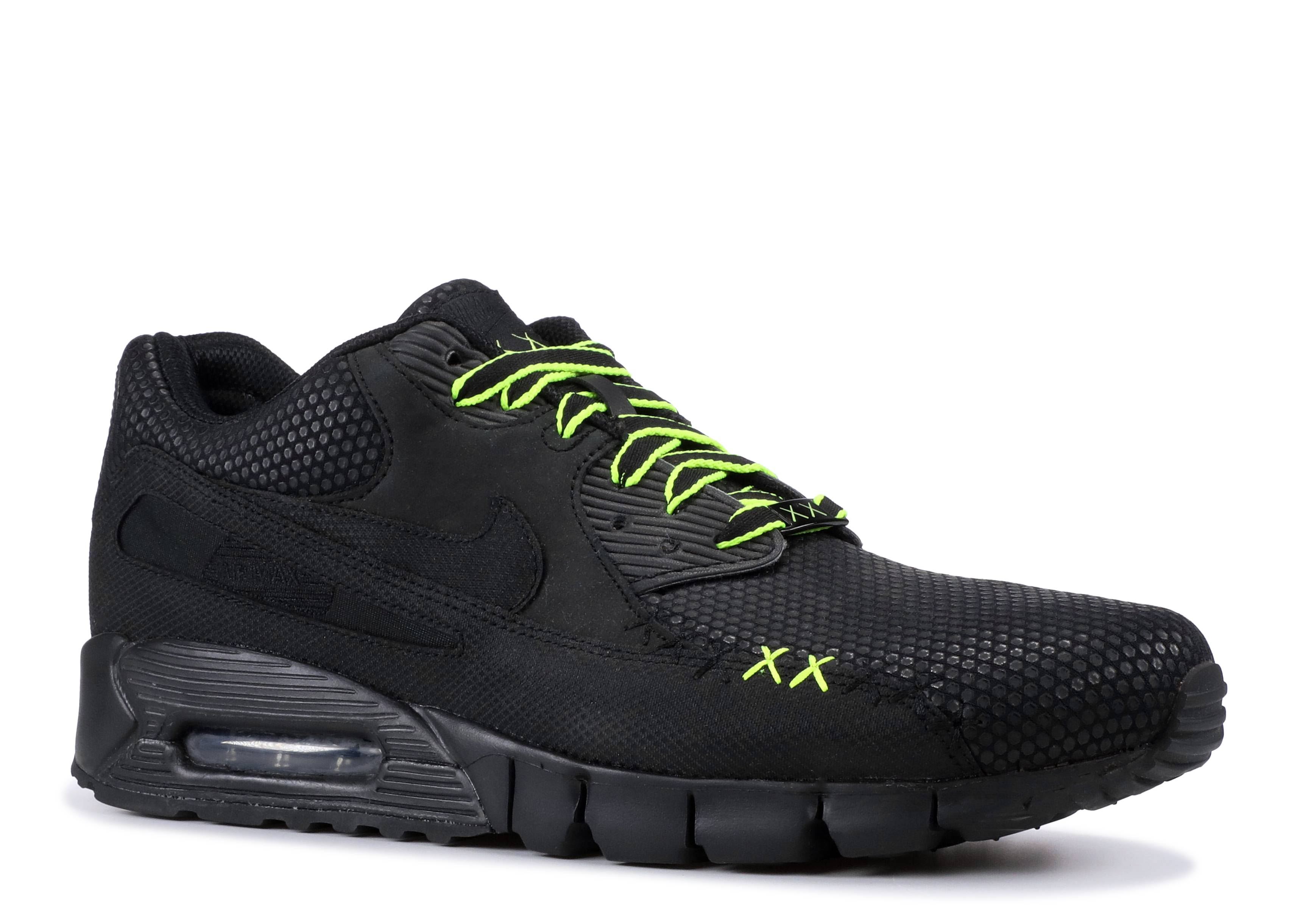 Mens Nike Air Max 90 Current Premium BlackBlack Volt