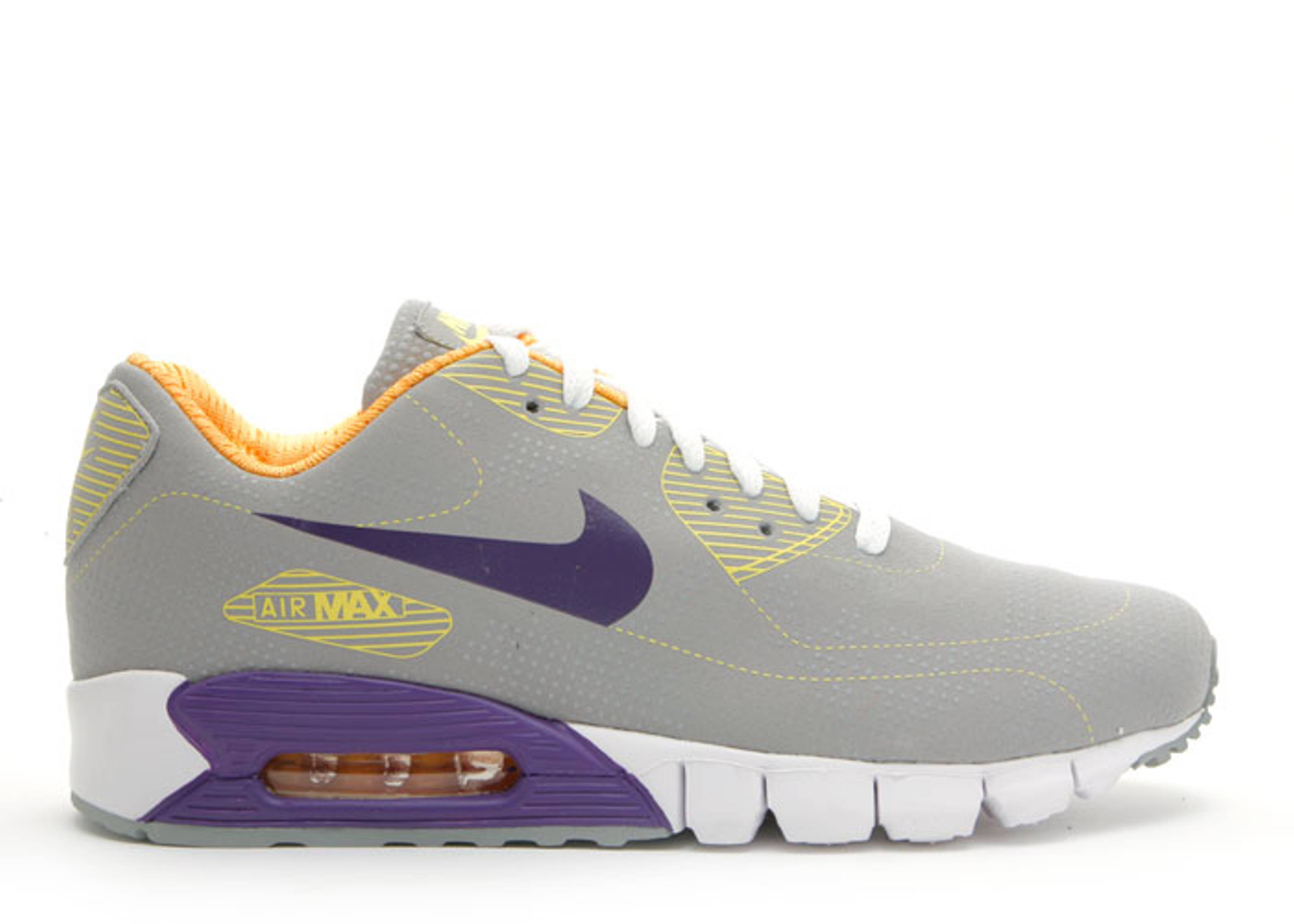 outlet store c7909 386a8 Air Max 90 Current Moire - Nike - 344081 051 - medium grey club  purple-white-sunbeam-vibrant yellow   Flight Club