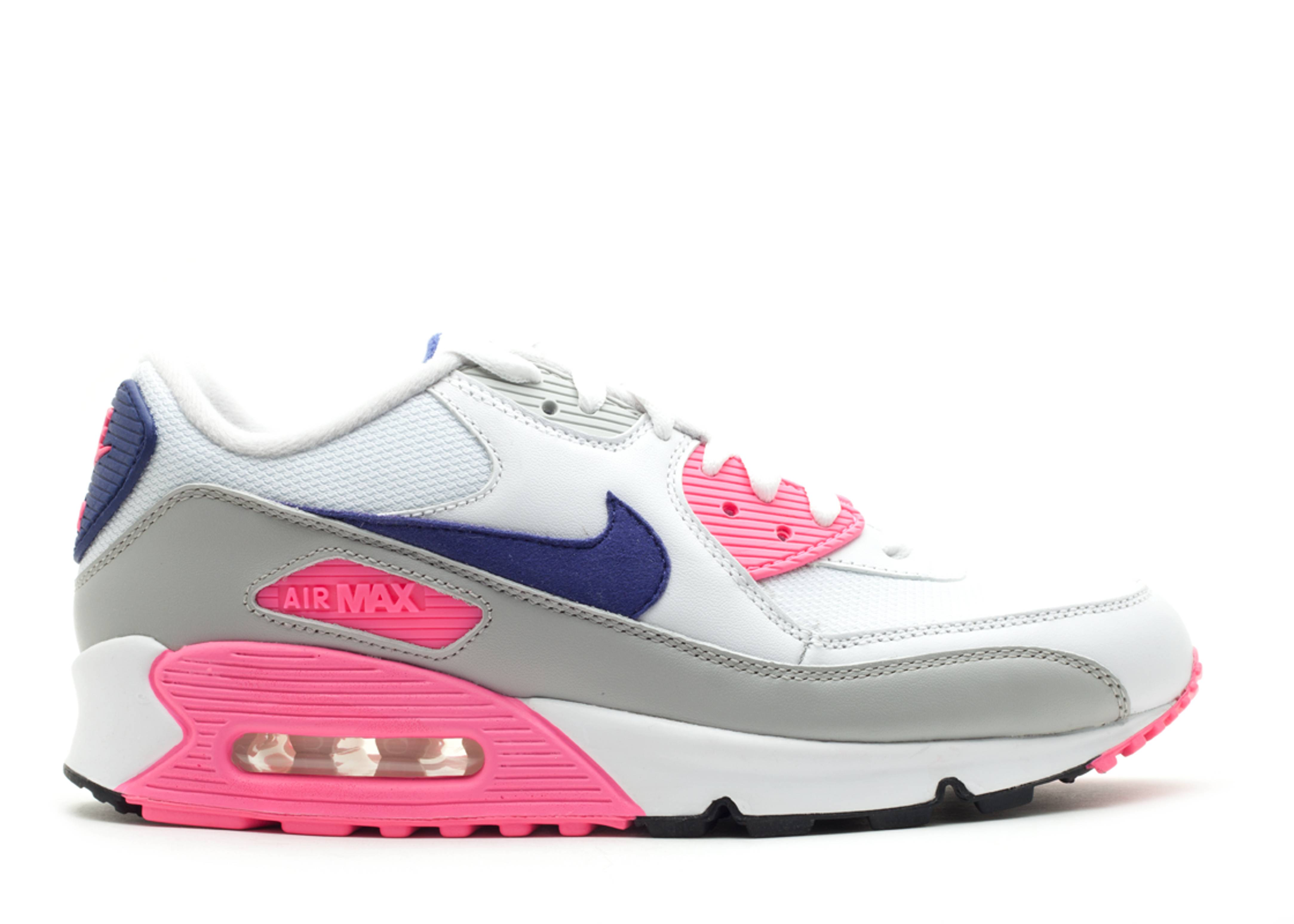 8e5fa54471 W's Air Max 90 - Nike - 325213 105 - white/asian concord-laser pink ...