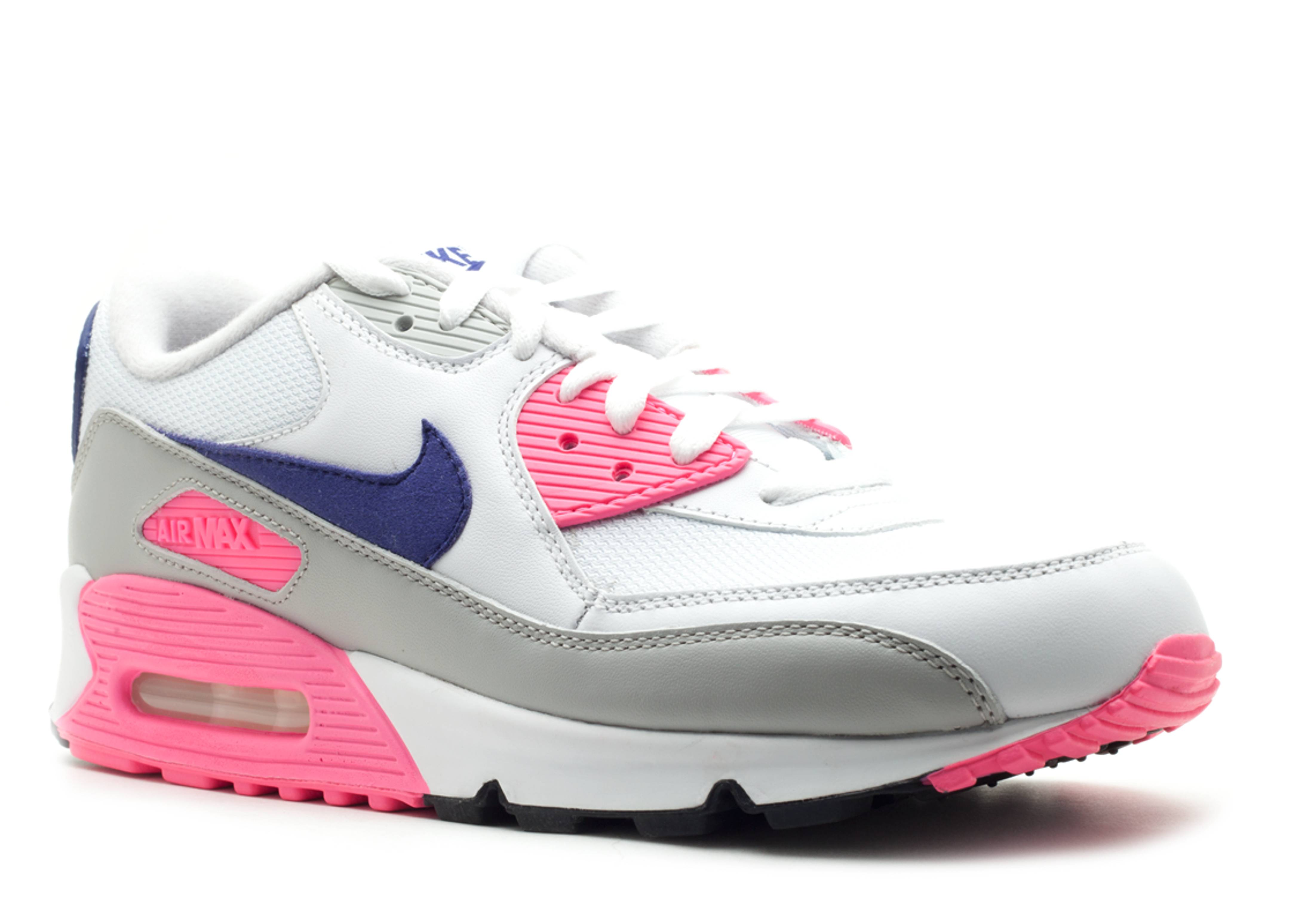 ff375ecc45 W's Air Max 90 - Nike - 325213 105 - white/asian concord-laser pink |  Flight Club